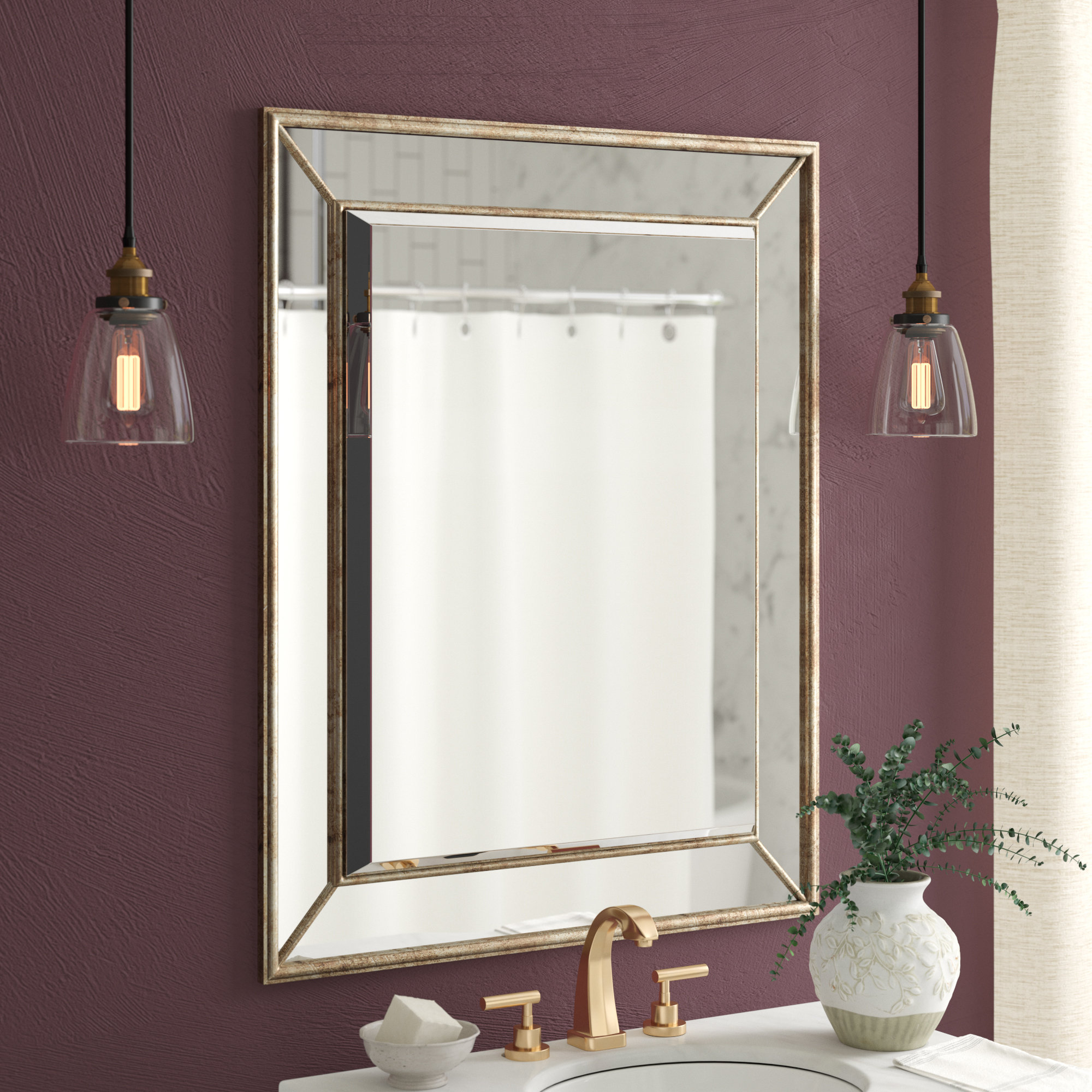 Current Vertical Wall Mirrors In Maybery Rectangle Vertical Bathroom / Vanity Wall Mirror (View 20 of 20)