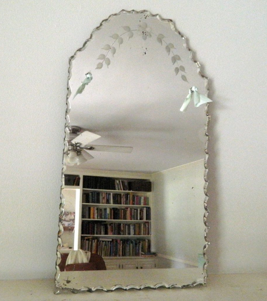 Current Vintage Etched Wall Mirror (View 17 of 20)