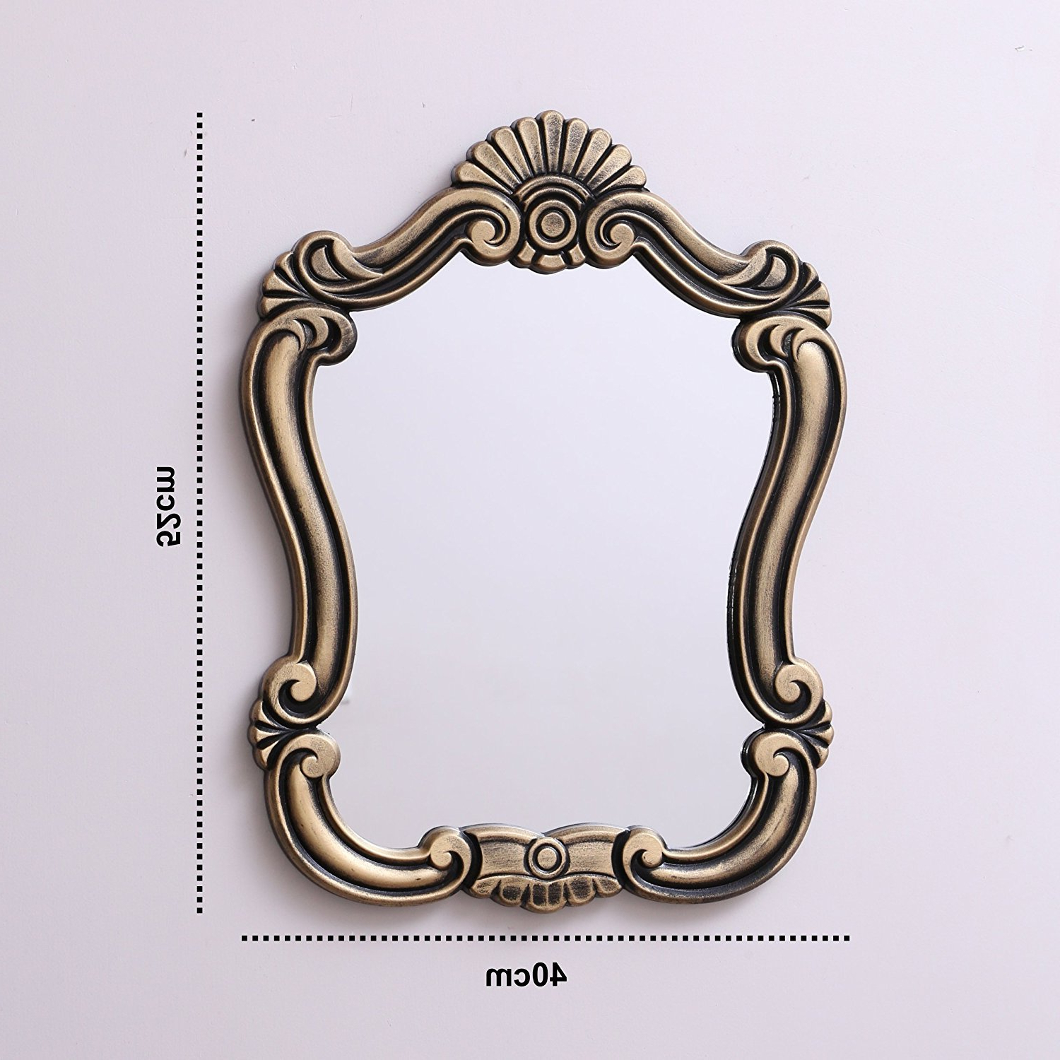 Current Vintage Style Wall Mirrors With Regard To Kurtzy Vintage Style Home Decorative Wooden Vanity Wall Mirror Glass For Living Bathroom Bedroom (View 7 of 20)