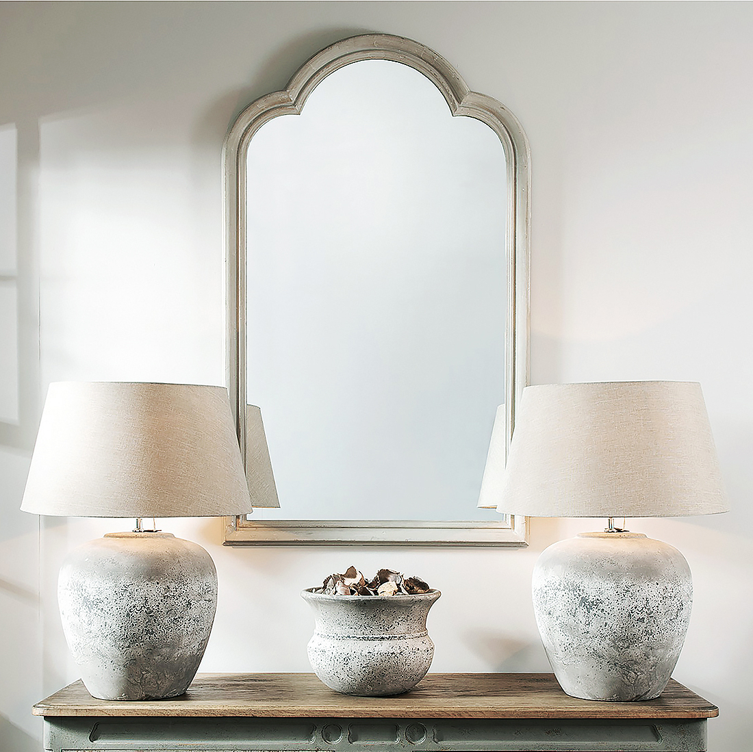 Current Vivienne Grey Wooden Wall Mirror Regarding Grey Wall Mirrors (View 18 of 20)