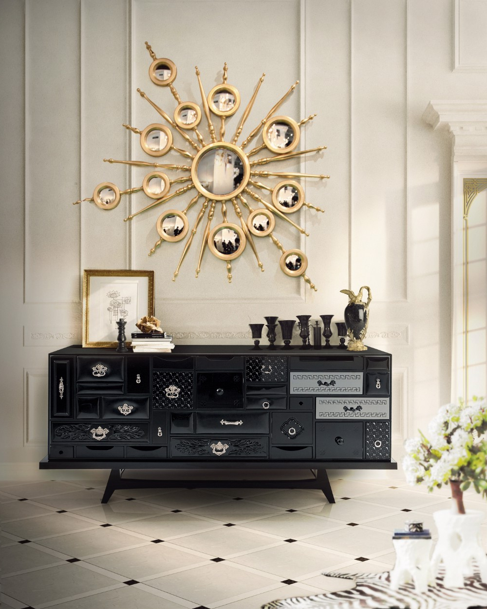 Current Wall Mirrors Designs With Regard To 20 Exquisite Wall Mirror Designs For Your Living Room (View 1 of 20)