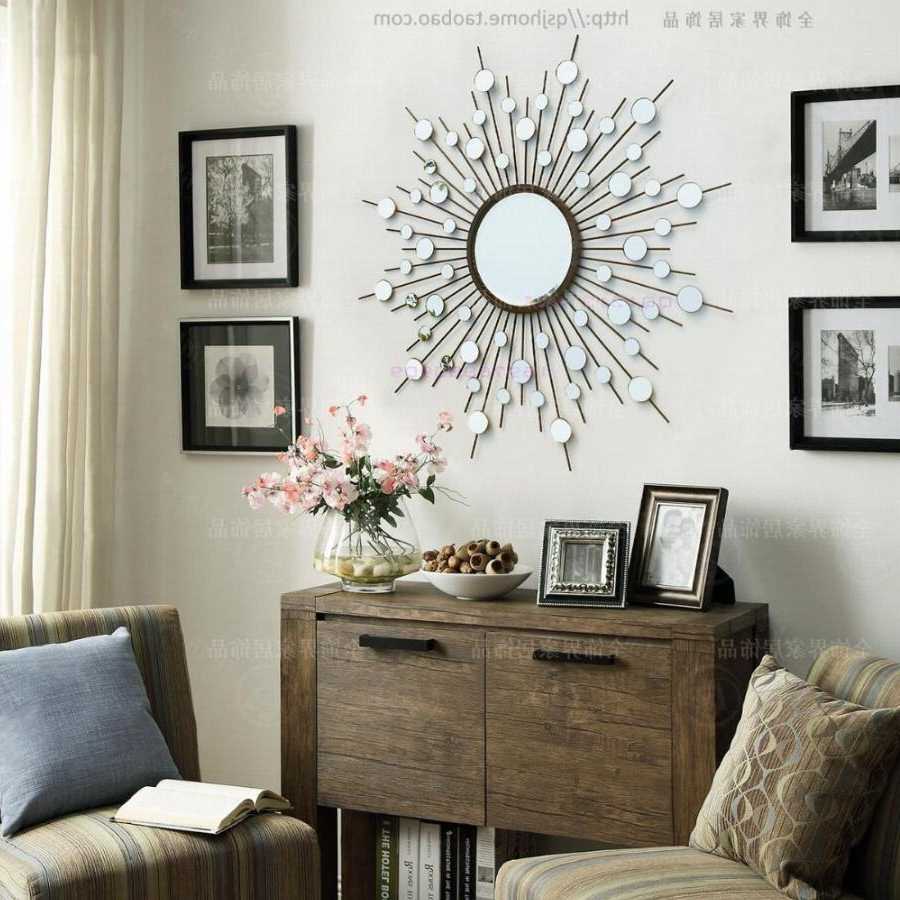 Current Wall Mirrors With Art In Metal Wall Mirror Decor Modern Mirrored Wall Art Wire Wall Art Decorative  Sunburst Mirror (View 6 of 20)