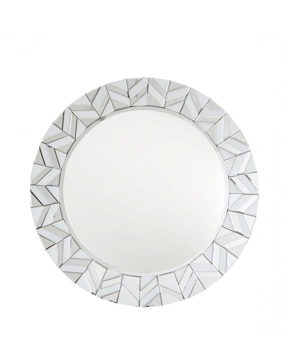 Current White New York Tiled Round Wall Mirror Pertaining To Round White Wall Mirrors (View 12 of 20)