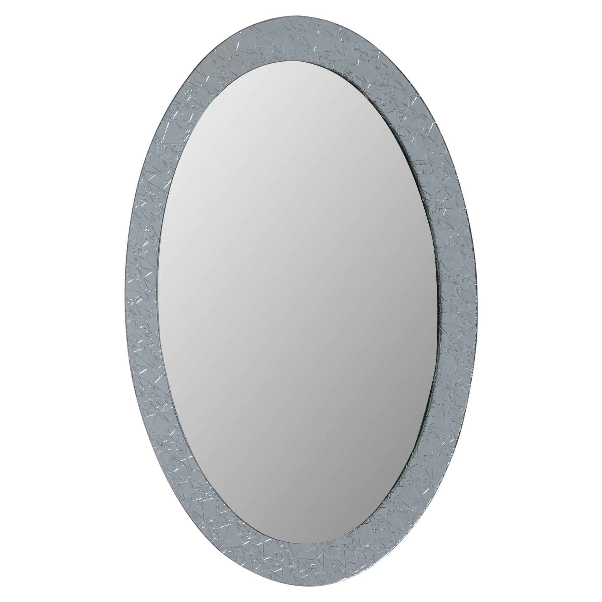 Current Willa Arlo Interiors Sajish Oval Crystal Wall Mirror Pertaining To Sajish Oval Crystal Wall Mirrors (View 2 of 20)
