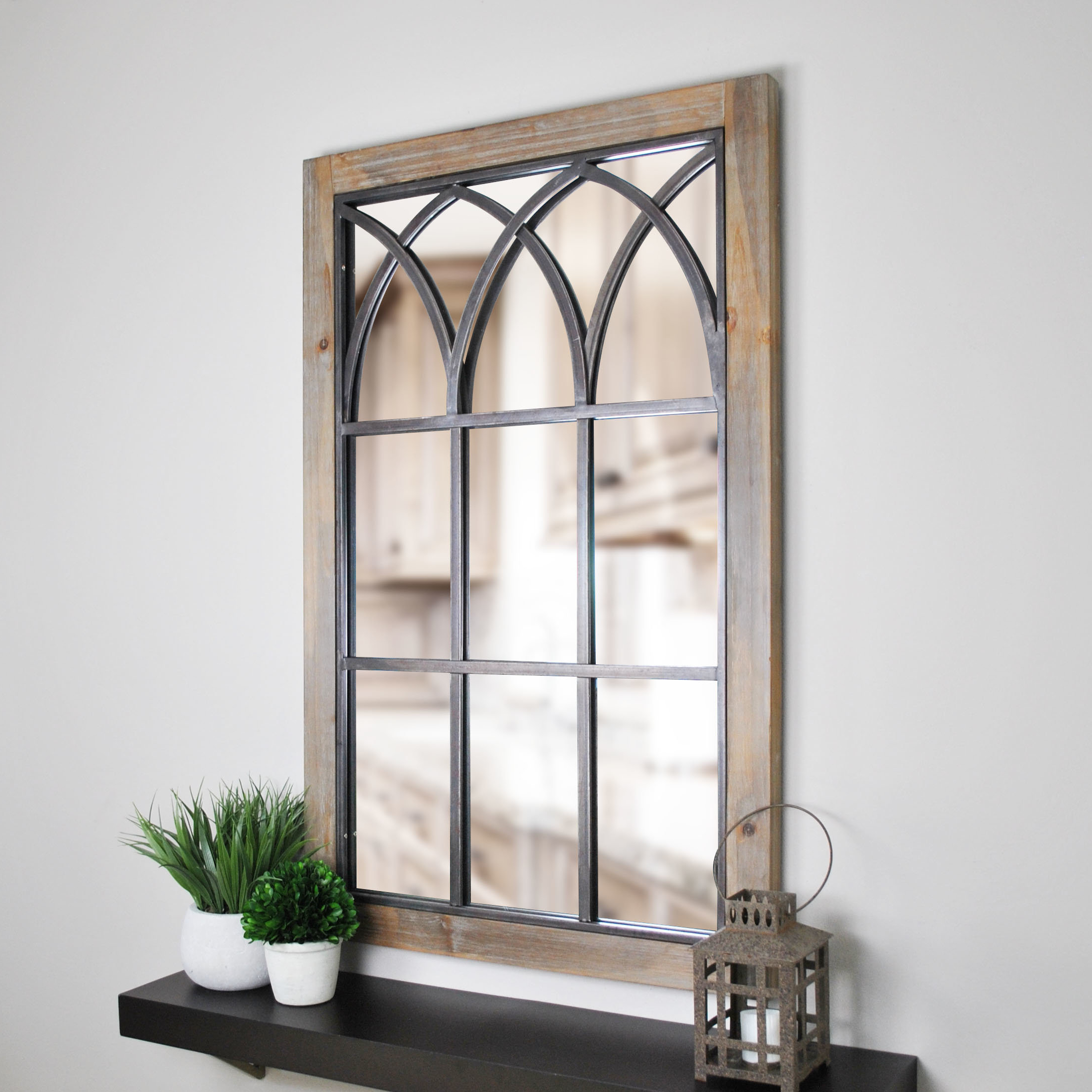 Current Window Accent Mirror & Mercersburg Window Wall Accent Mirror Sc 1 St Intended For Laurel Foundry Modern & Contemporary Accent Mirrors (View 17 of 20)