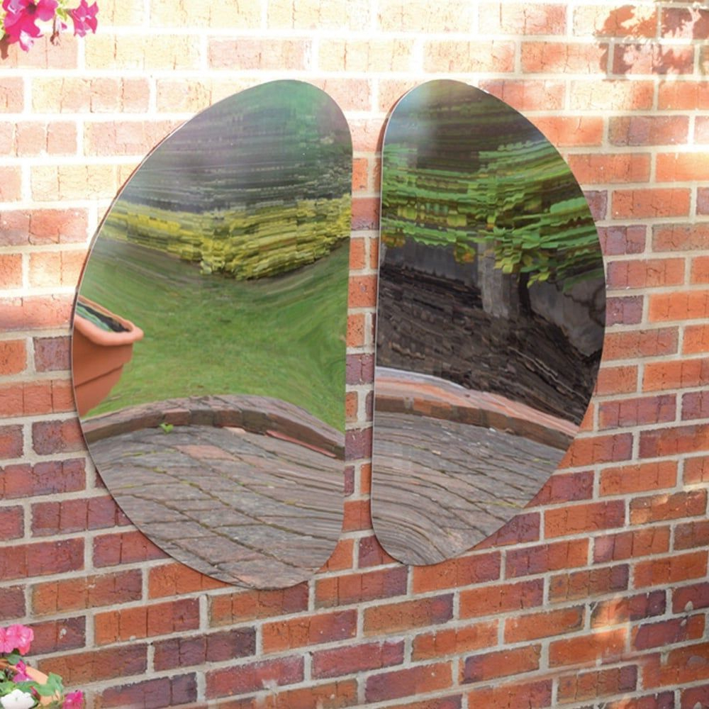 Curvy Outdoor Mirror,outdoor Mirrors,outdoor Sensory Toys For Well Known Outdoor Garden Wall Mirrors (View 1 of 20)