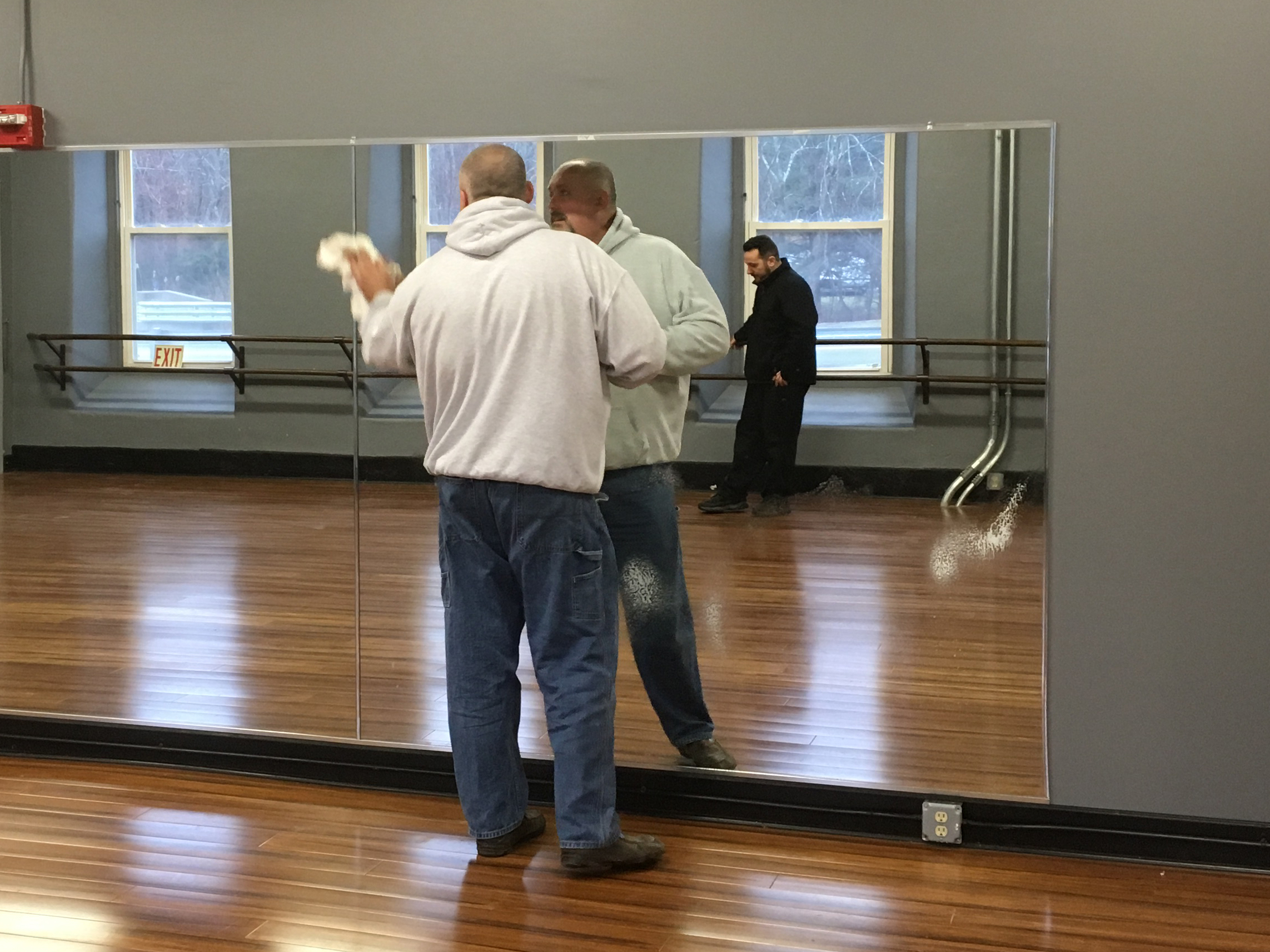 Custom Mirrors For Business Gym Wall Home In Ma Dance Studio Mirror In Trendy Cheap Gym Wall Mirrors (View 13 of 20)