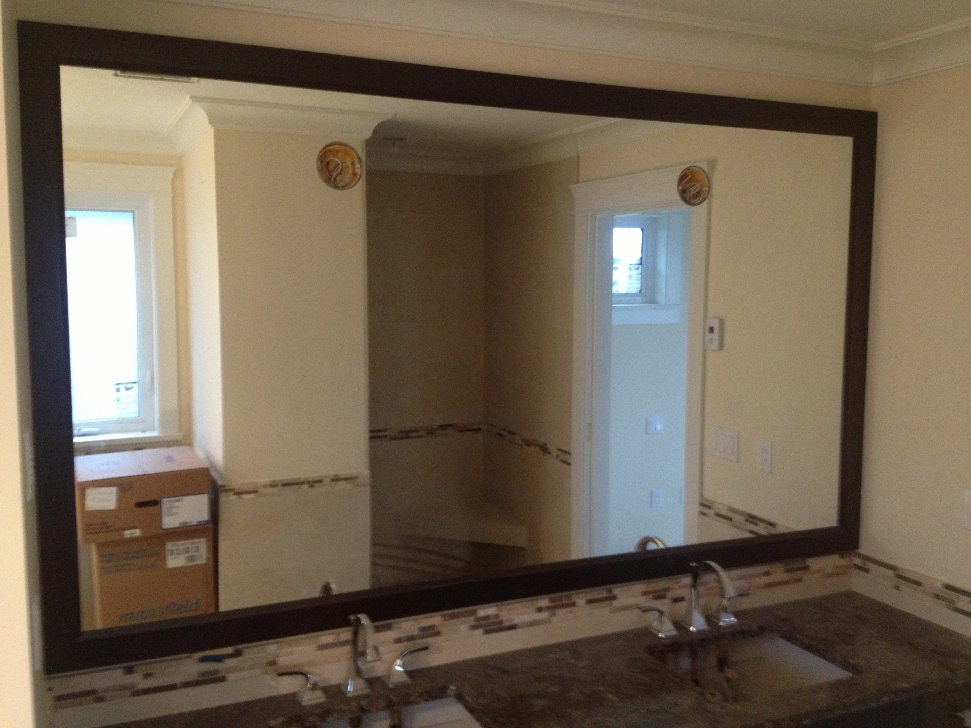 Custom Mirrors In Newest Marvelous Bathroom Mirrors Wood Frame About Interior Decor (Gallery 8 of 20)