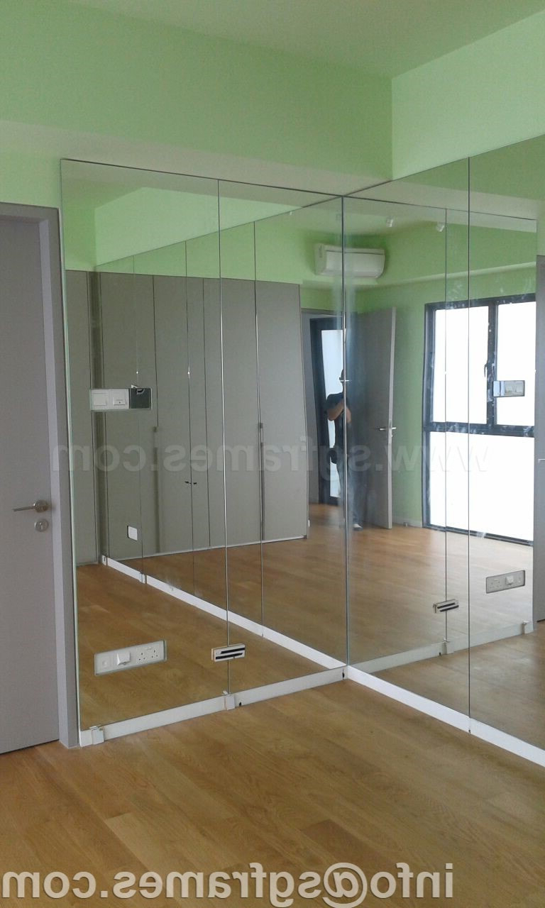 Custom Size Mirror Maker Singapore – Sgframes Throughout Best And Newest Full Wall Mirrors (View 7 of 20)
