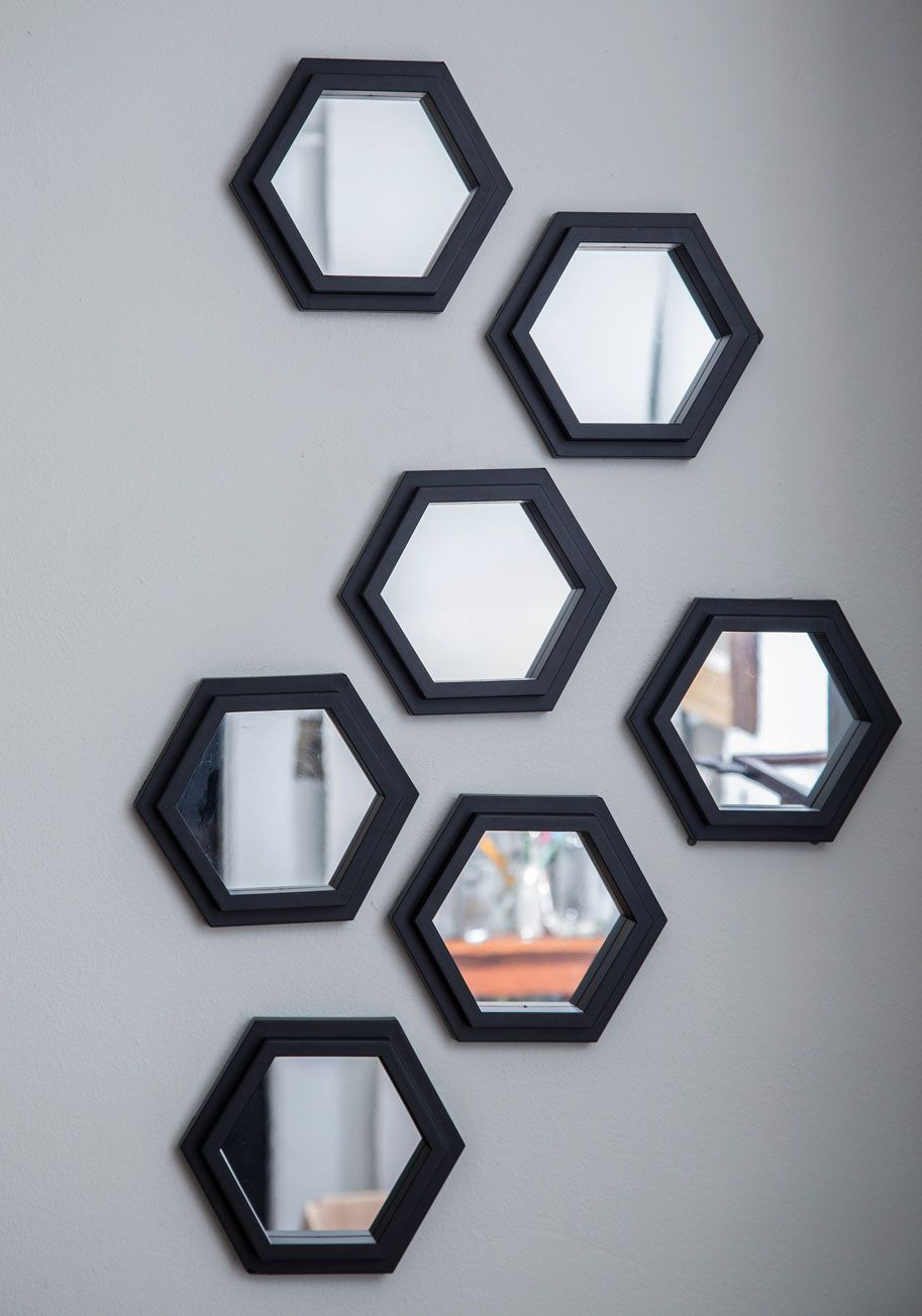 Cute Wall Mirrors Pertaining To Widely Used Geometric Makeover Wall Mirror Set (View 5 of 20)