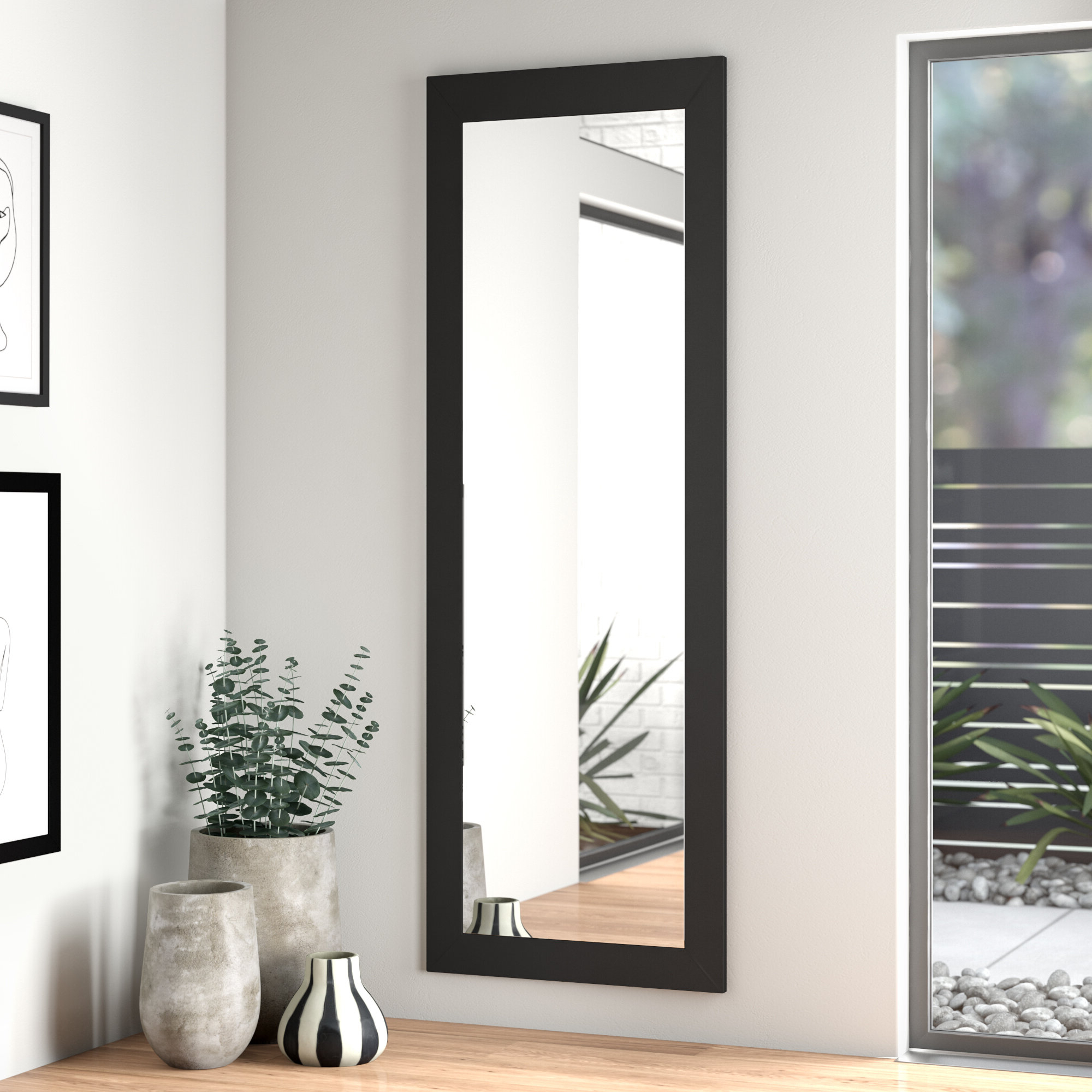 Dalessio Wide Tall Full Length Mirrors Throughout 2019 Satin Full Length Body Mirror (View 8 of 20)