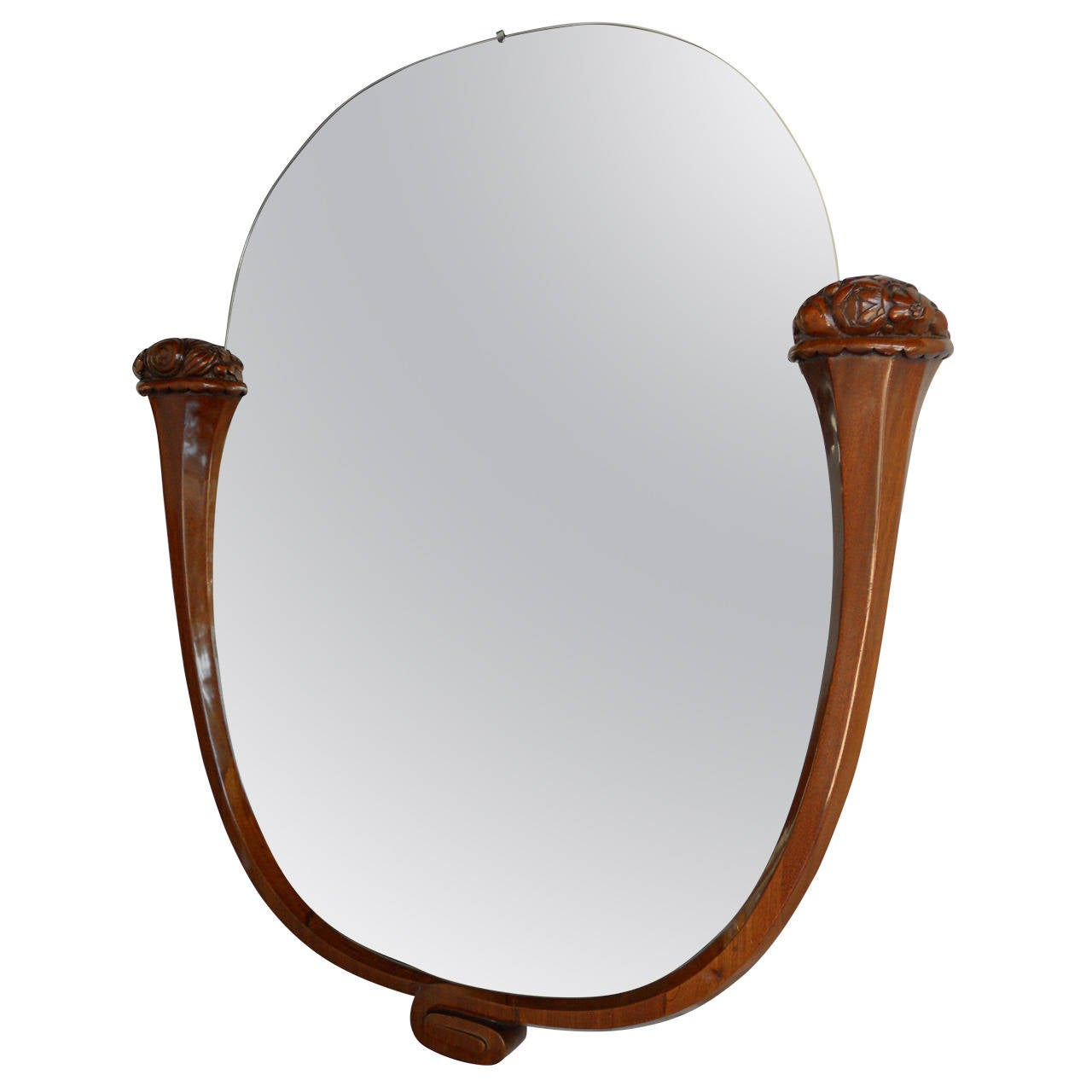 Dandre Wall Mirrors For Most Current Louis Sue And Andre Mare Attributed Carved Mahogany Wall Mirror (View 13 of 20)