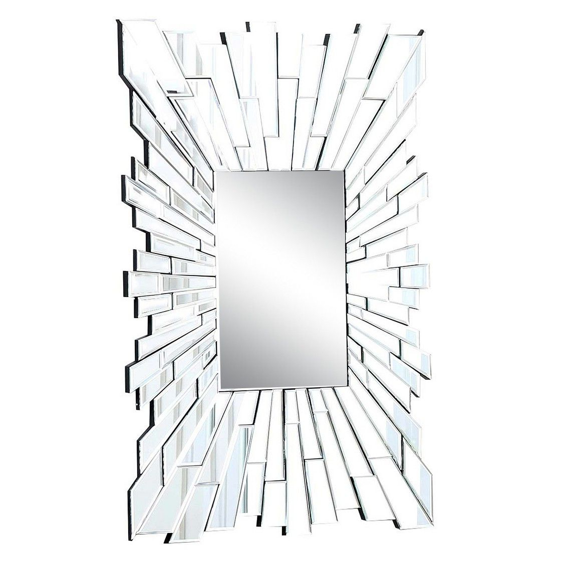 Dandre Wall Mirrors Regarding Fashionable Abbyson Andre Rectangle Mirror – Light Silver (View 11 of 20)