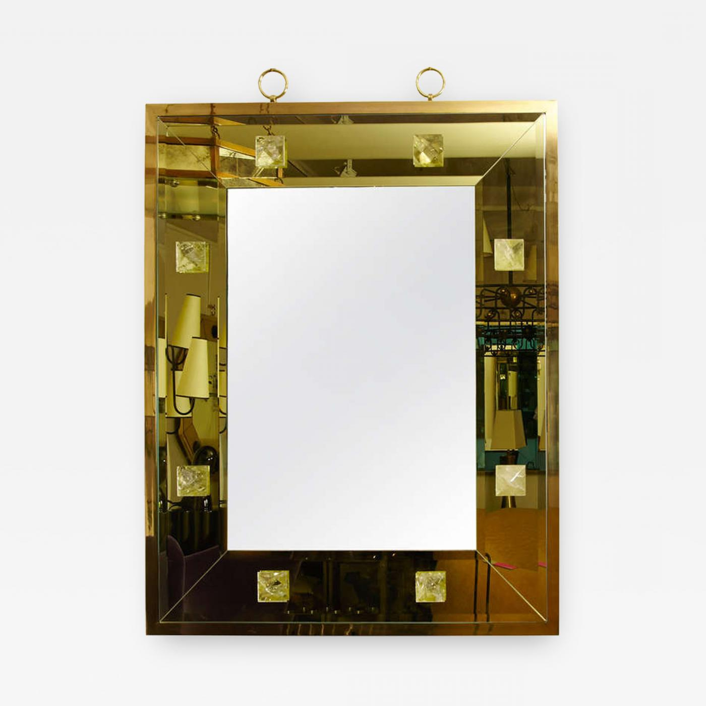 Dandre Wall Mirrors Throughout 2020 Andre Hayat – Andre Hayat Pale Yellow Rectangular Mirror (View 8 of 20)