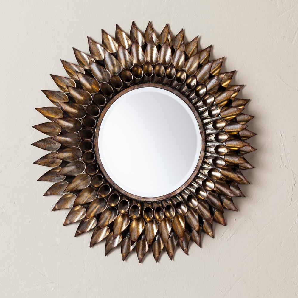 Danile Round Decorative Wall Mirror Regarding Well Known Round Decorative Wall Mirrors (View 16 of 20)