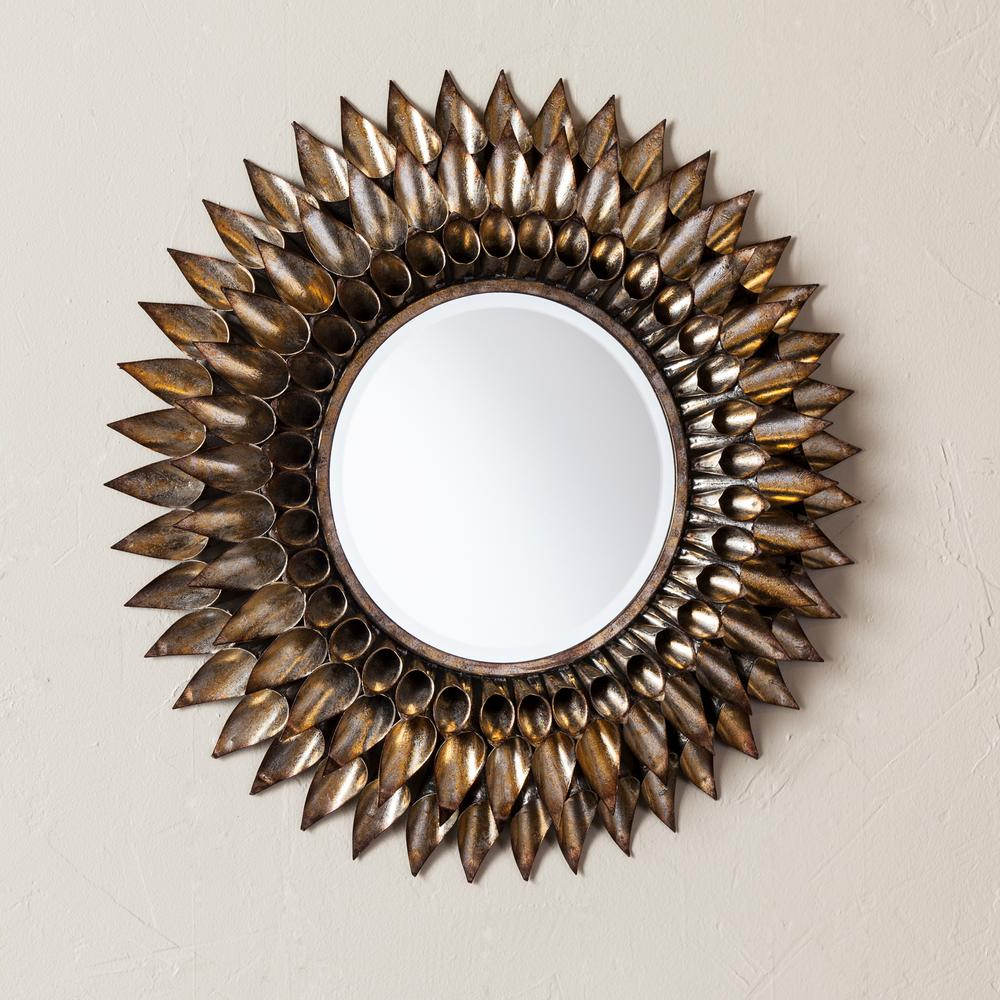 Danile Round Decorative Wall Mirror Within 2019 Decorative Wall Mirrors (Gallery 11 of 20)