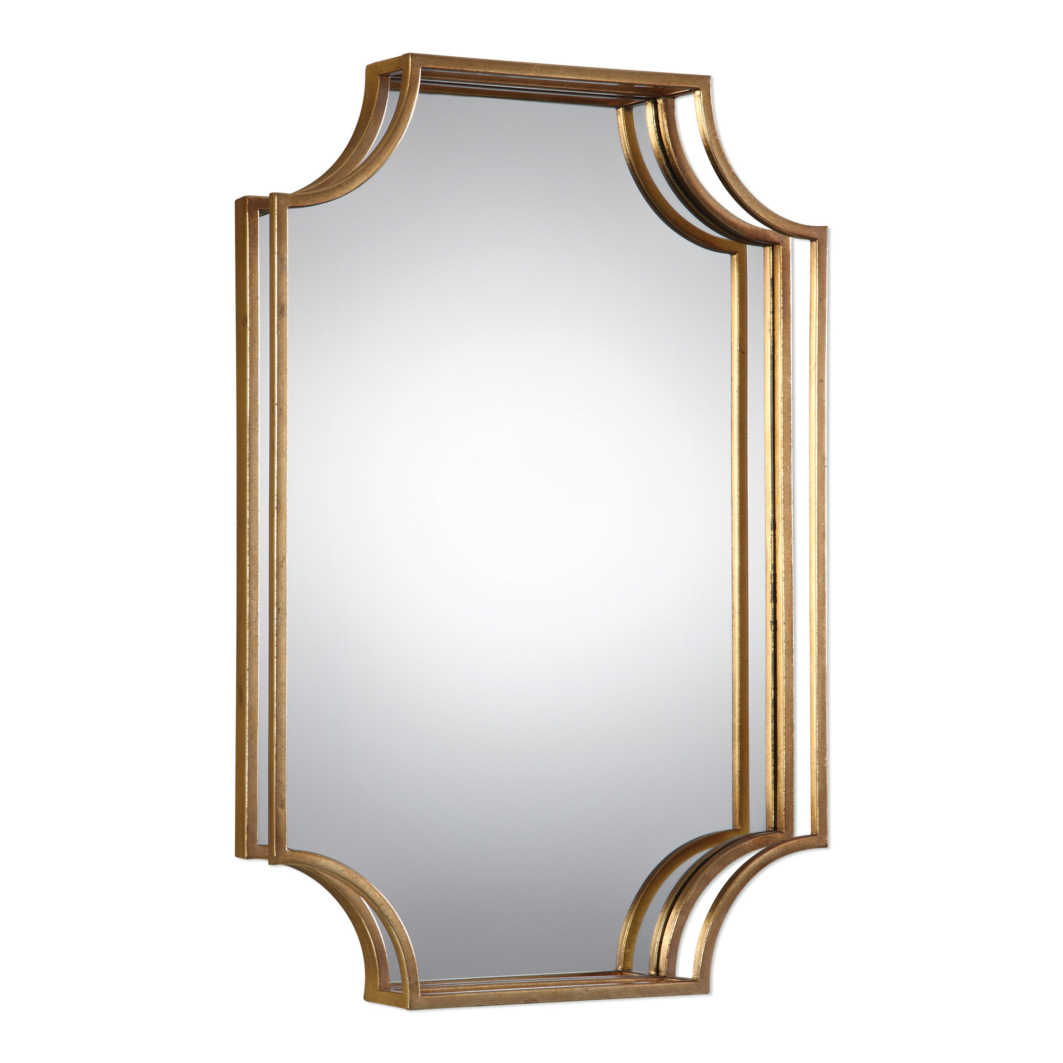 Dariel Tall Arched Scalloped Wall Mirrors In Current Vansickle Metal Accent Wall Mirror (View 4 of 20)