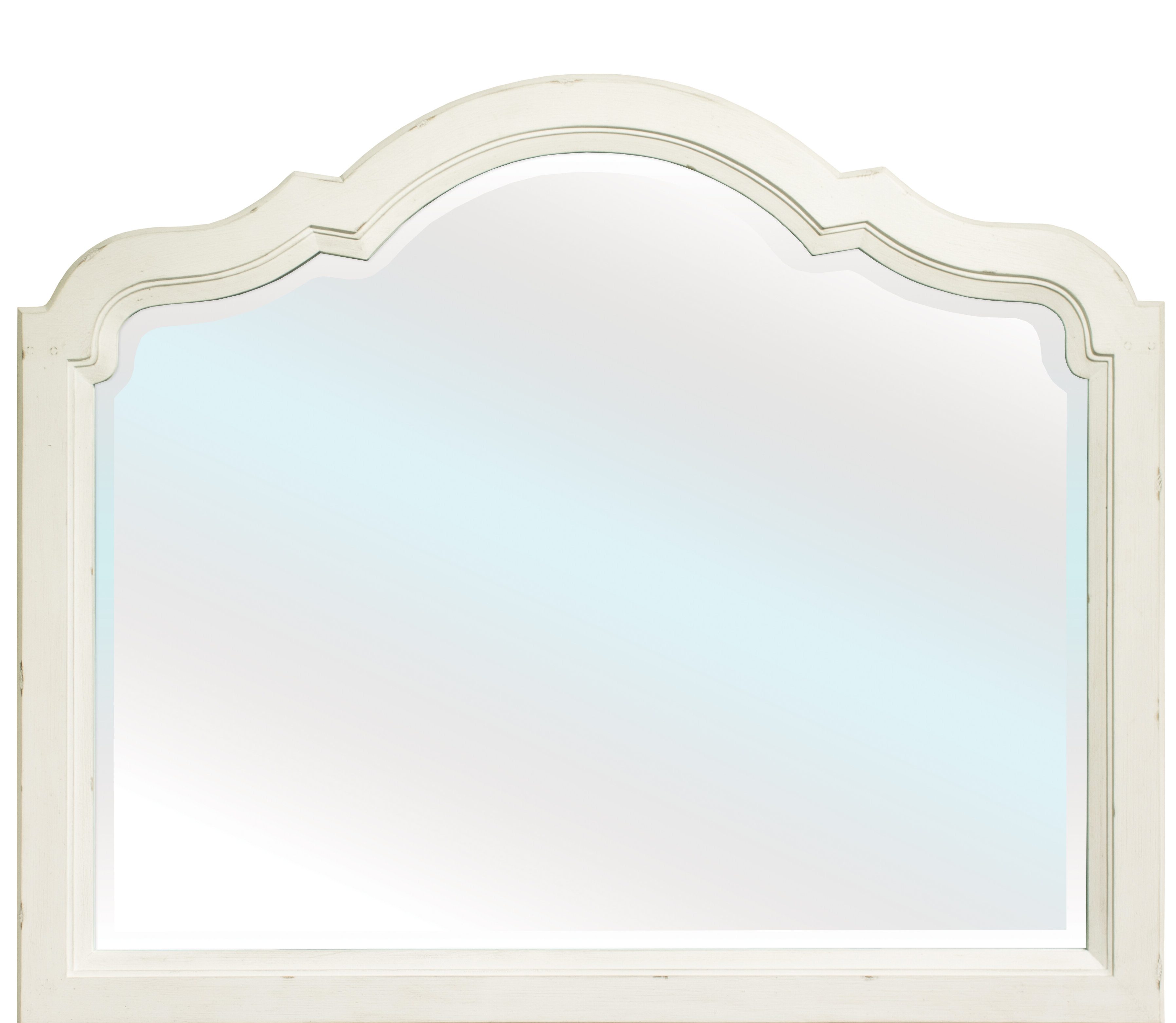 Dariel Tall Arched Scalloped Wall Mirrors In Well Known Grand Haven Landscape Traditional Beveled Dresser Mirror (View 5 of 20)