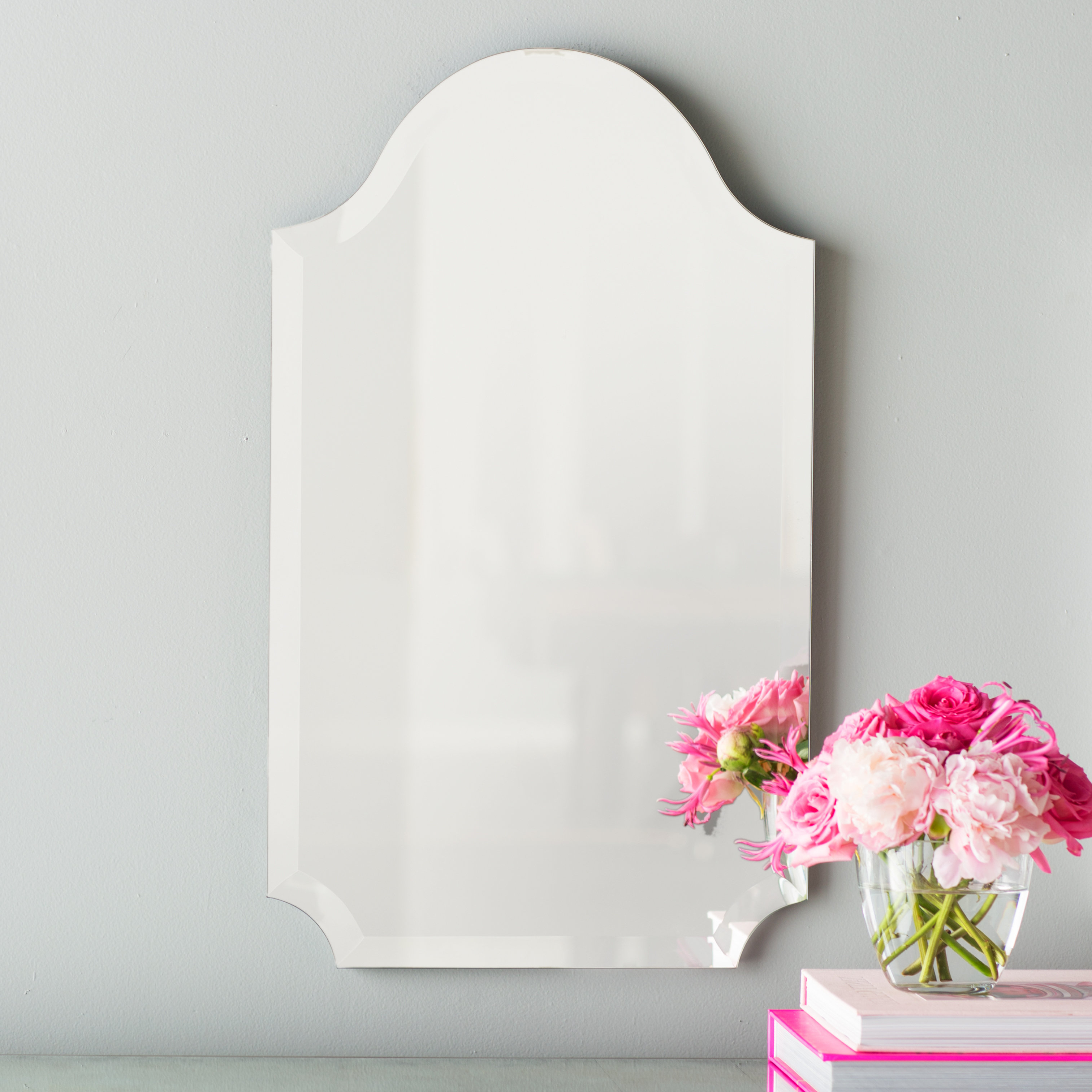 Dariel Tall Arched Scalloped Wall Mirrors Pertaining To 2020 Dariel Tall Arched Scalloped Wall Mirror (View 1 of 20)