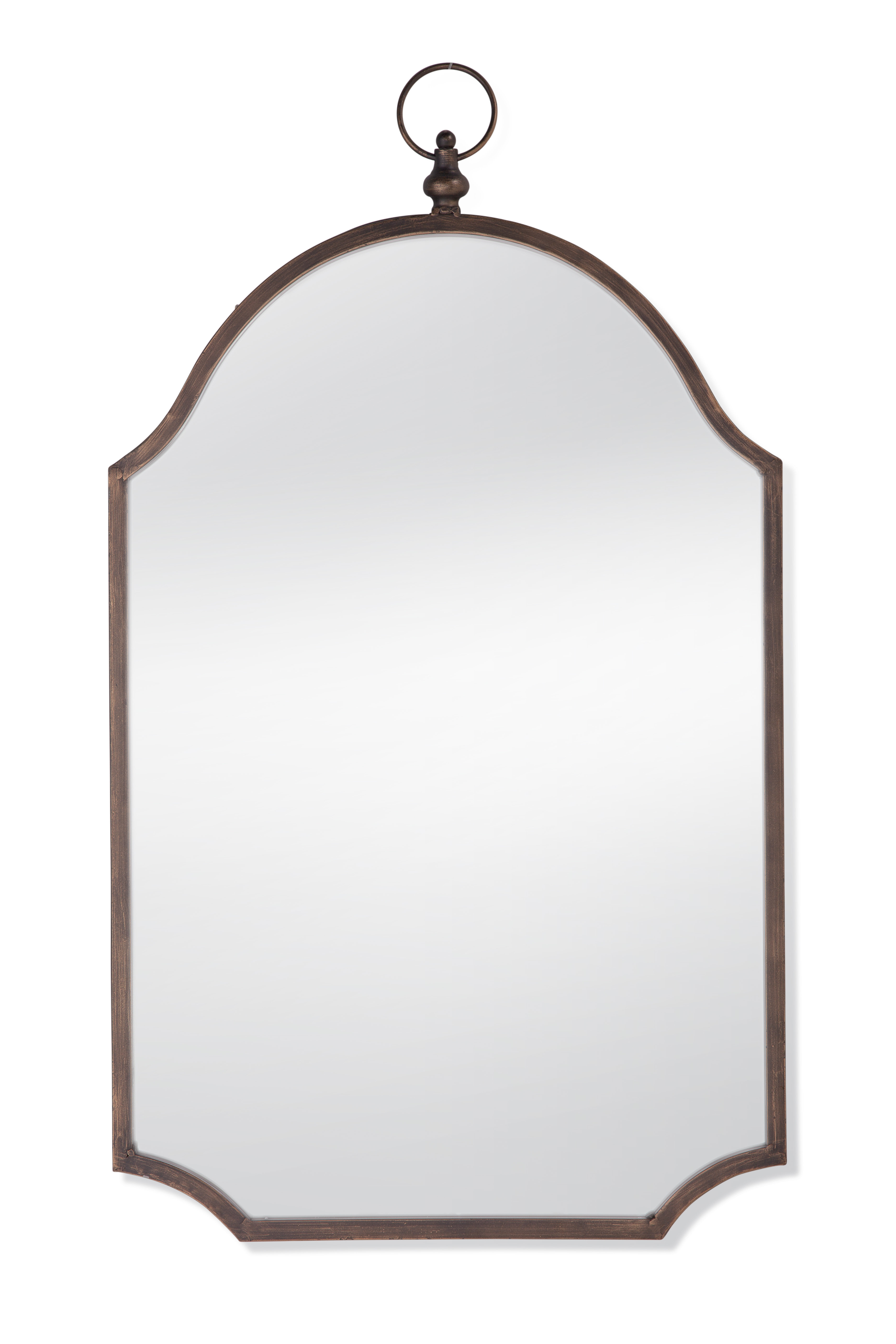 Dariel Tall Arched Scalloped Wall Mirrors Pertaining To Fashionable Inglaterra Accent Mirror (View 7 of 20)