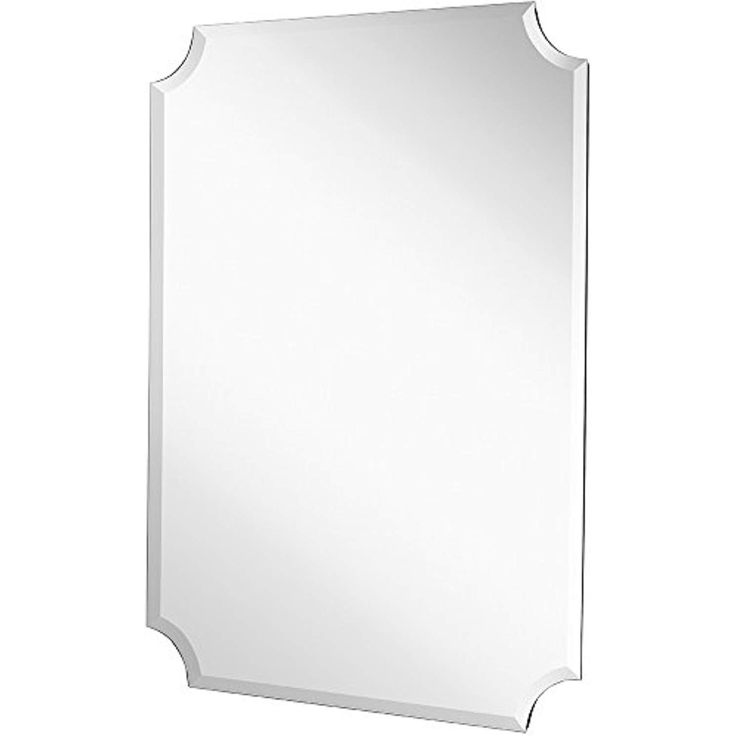 Dariel Tall Arched Scalloped Wall Mirrors Within Most Recent Large Beveled Scalloped Edge Rectangular Wall Mirror (View 11 of 20)