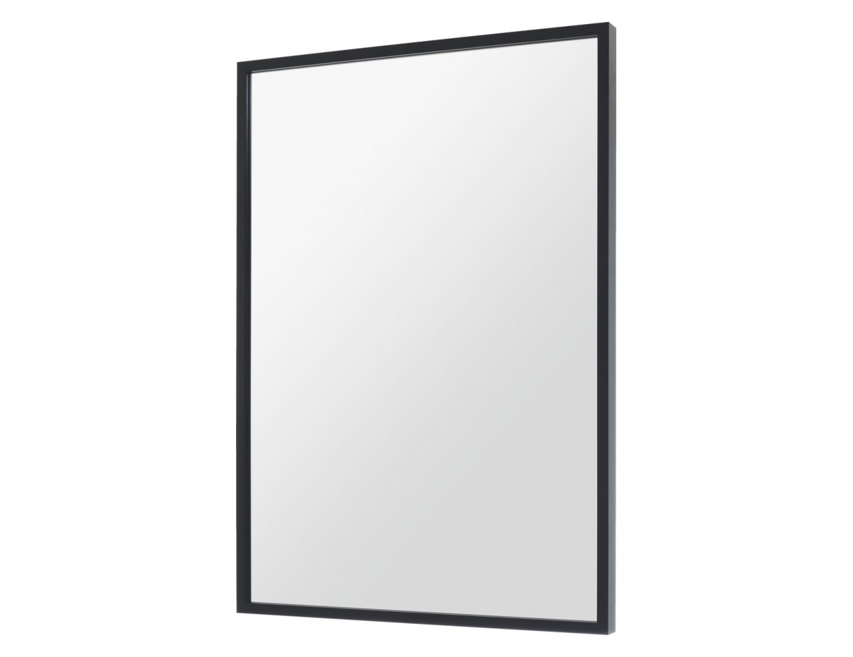 Dark Birch 70 X 100Cm Black Rectangular Wall Mirror In Latest Thin Wall Mirrors (View 4 of 20)