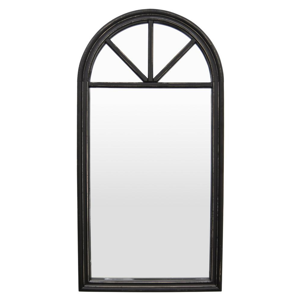 "Dark Wood Wall Mirrors In Well Known 46 ""black Wood Wall Mirror (View 5 of 20)"