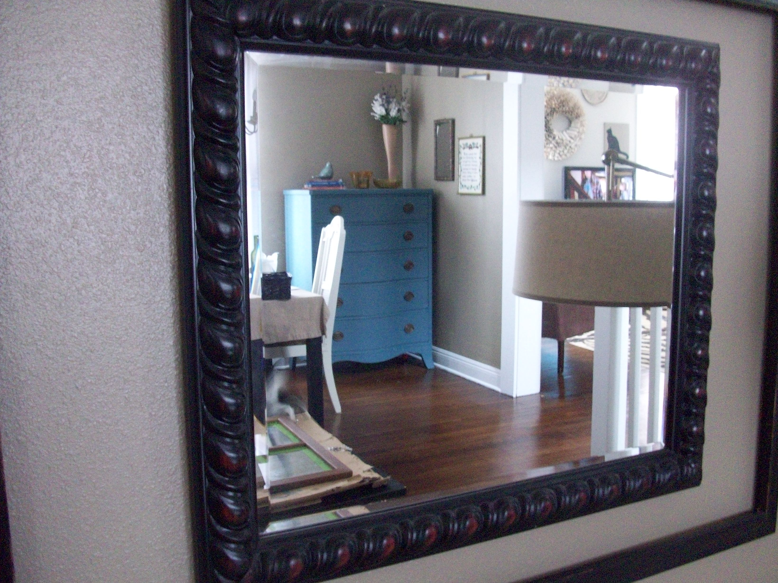 Dark Wood Wall Mirrors Throughout Most Recently Released House Dining Room Mirror Wall Decorative Mirrors For Painting (View 7 of 20)