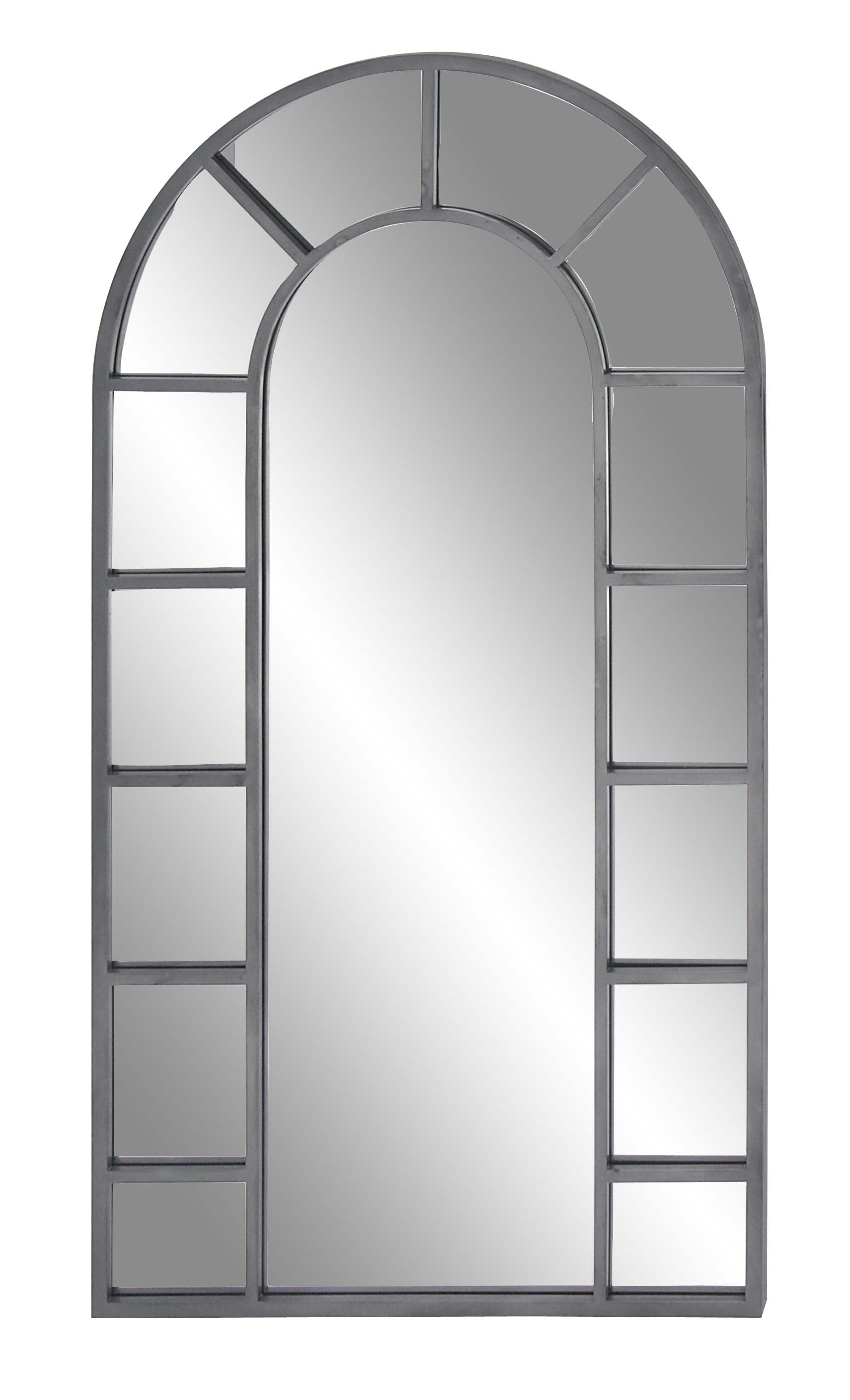 Decmode Contemporary Wood And Metal Arched Black Wall Mirror, Black In Most Current Arch Vertical Wall Mirrors (Gallery 14 of 20)