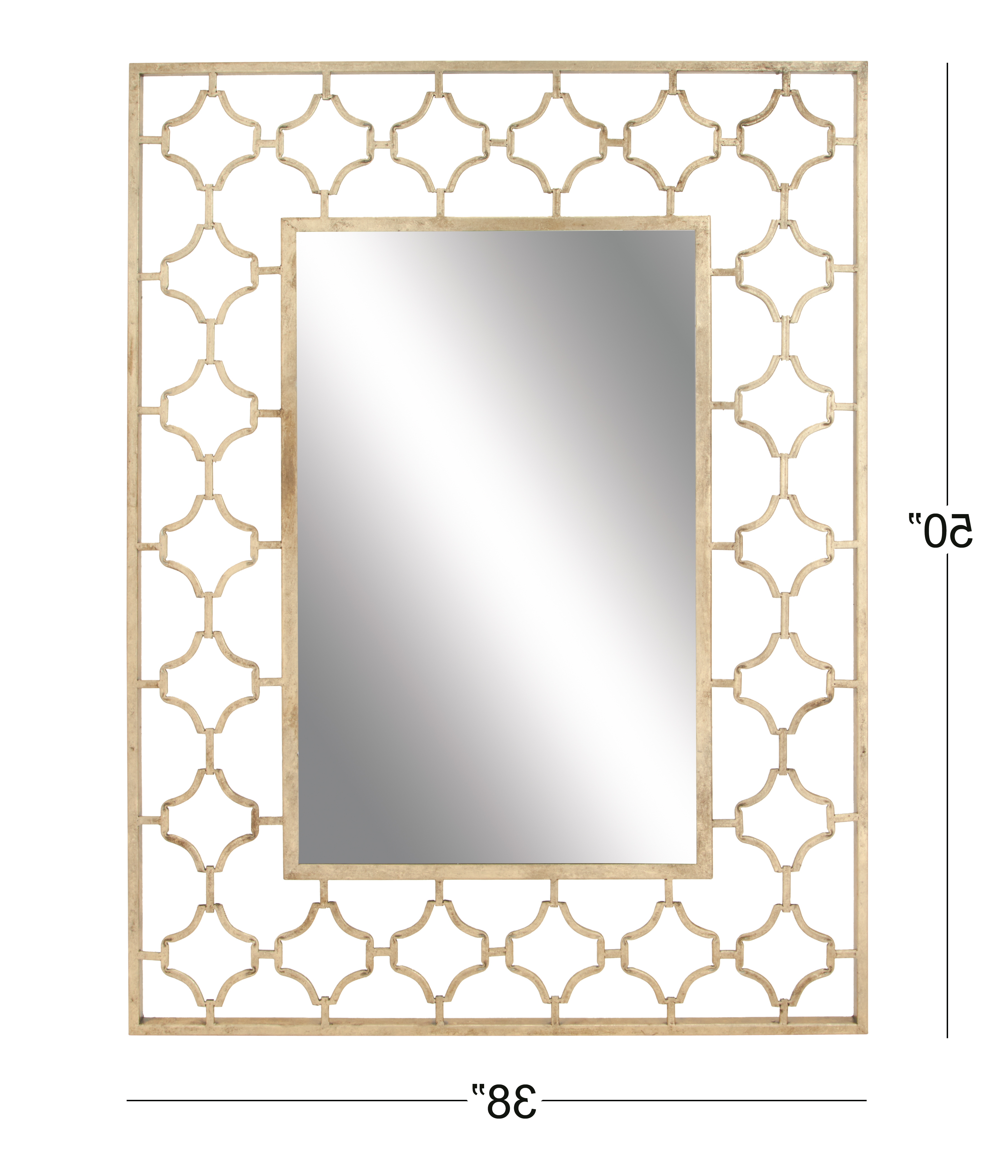 Decmode Glam 50 X 38 Inch Metal Quatrefoil Wall Mirror, Gold Regarding Most Recently Released Quatrefoil Wall Mirrors (View 13 of 20)