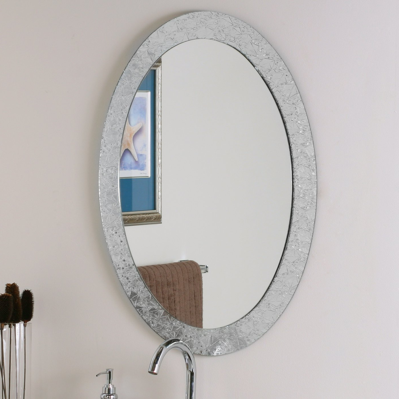 Decor Wonderland Frameless Crystal Wall Mirror Pertaining To Well Known Frameless Molten Wall Mirrors (View 18 of 20)