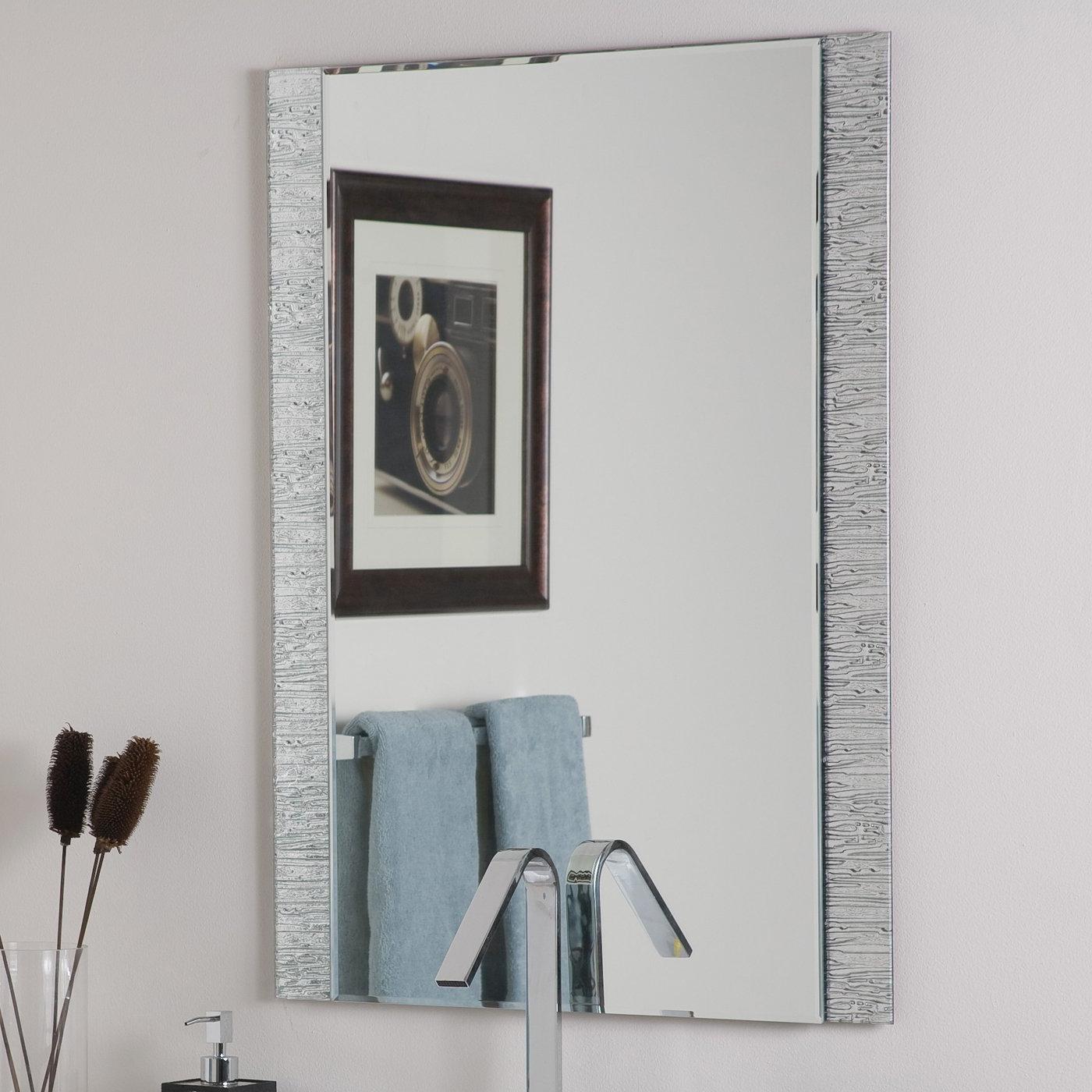 Decor Wonderland Frameless Molten Wall Mirror With Well Known Frameless Molten Wall Mirrors (View 3 of 20)