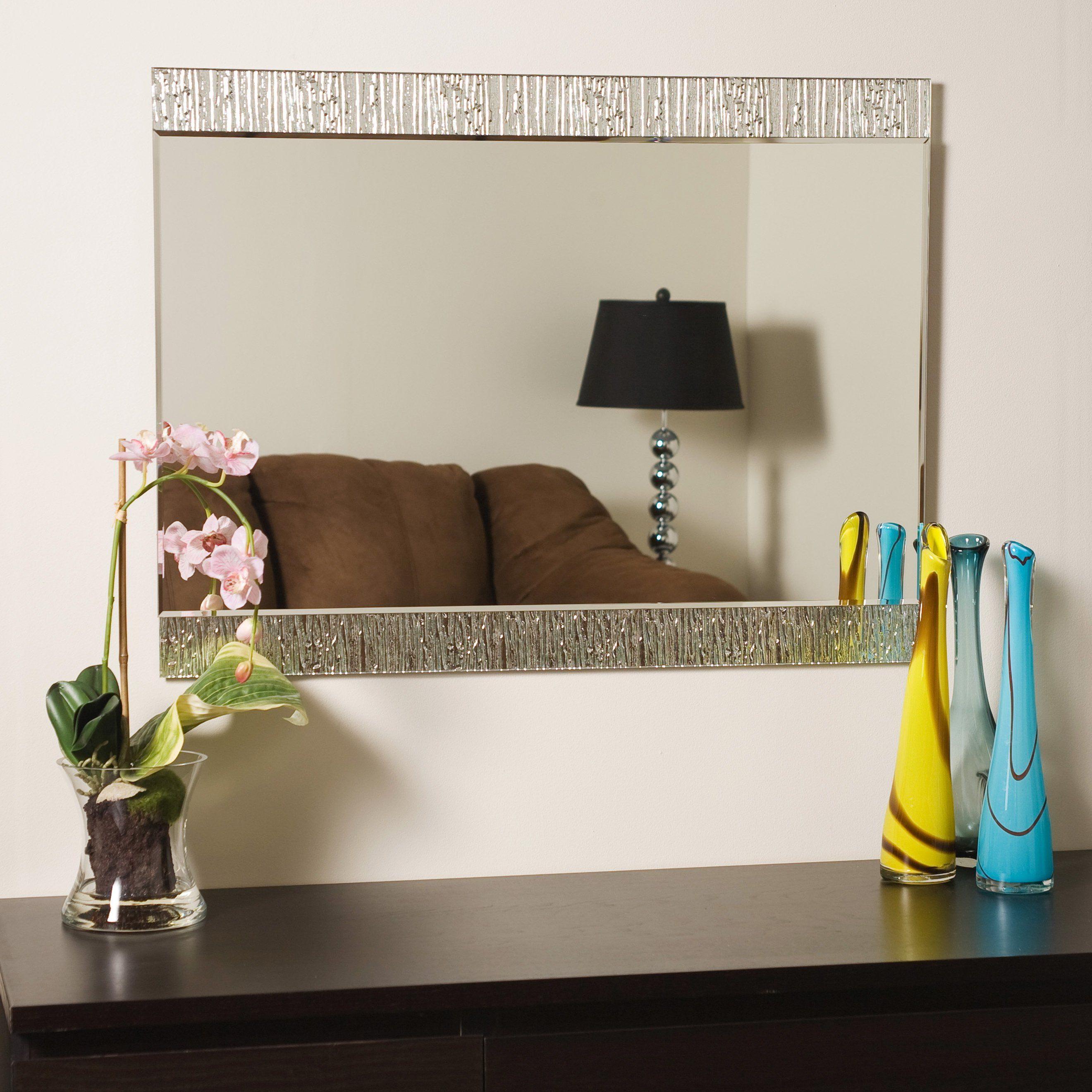 Decor Wonderland Frameless Molten Wall Mirror (View 6 of 20)