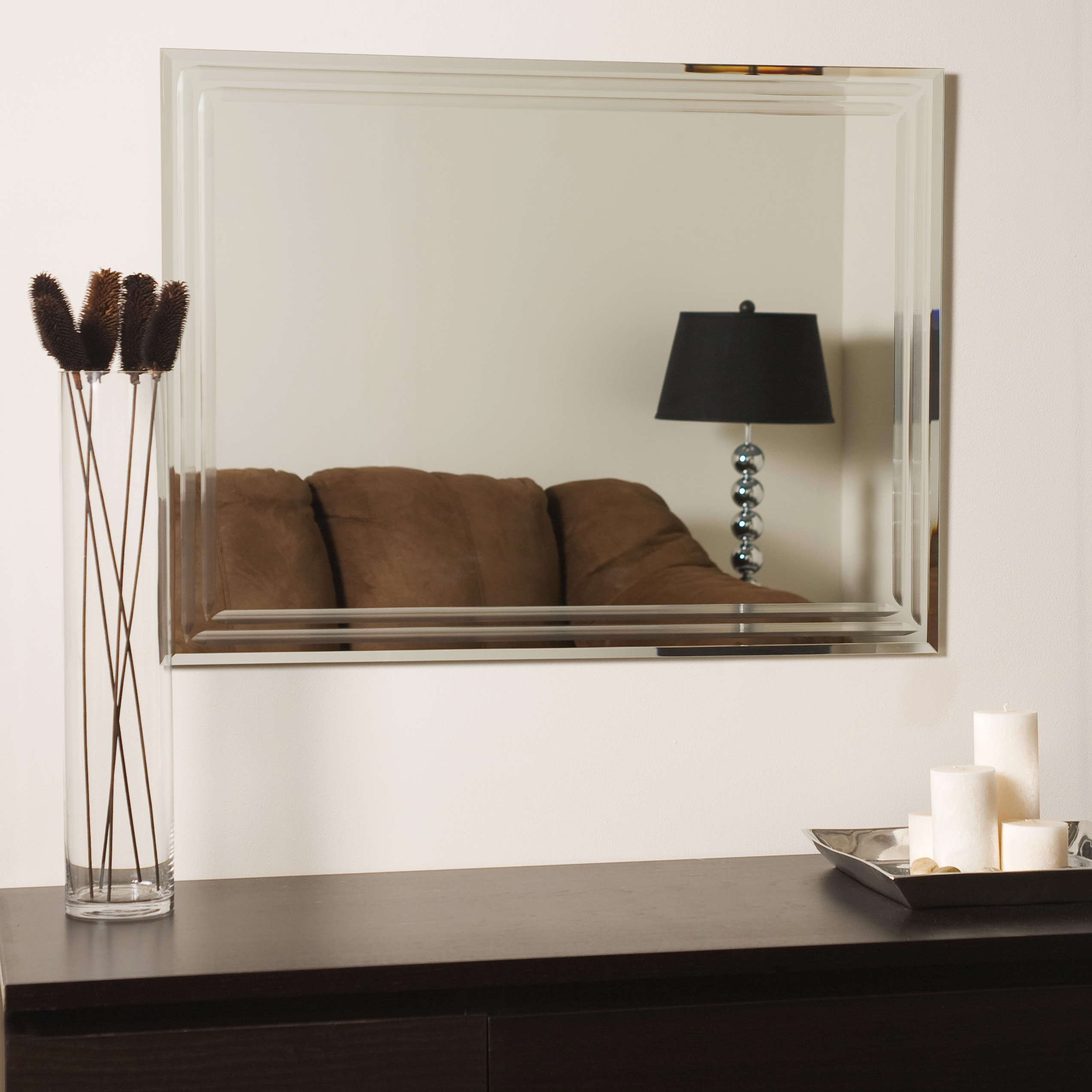 Decor Wonderland With Well Known Large Wall Mirrors Without Frame (View 3 of 20)