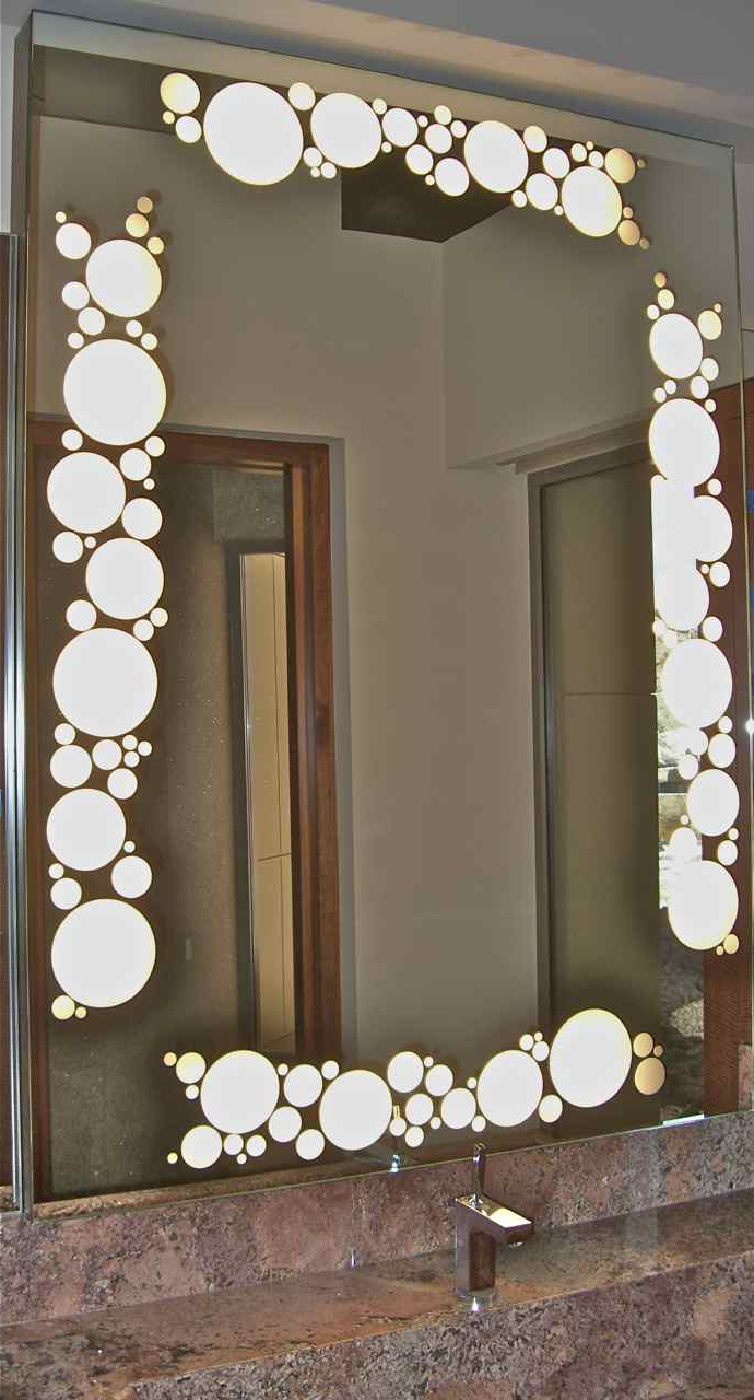 Decorative Bathroom Wall Mirrors Inside Well Known Decorative Wall Mirrors With Back Light! – Sans Soucie Art Glass (View 6 of 20)