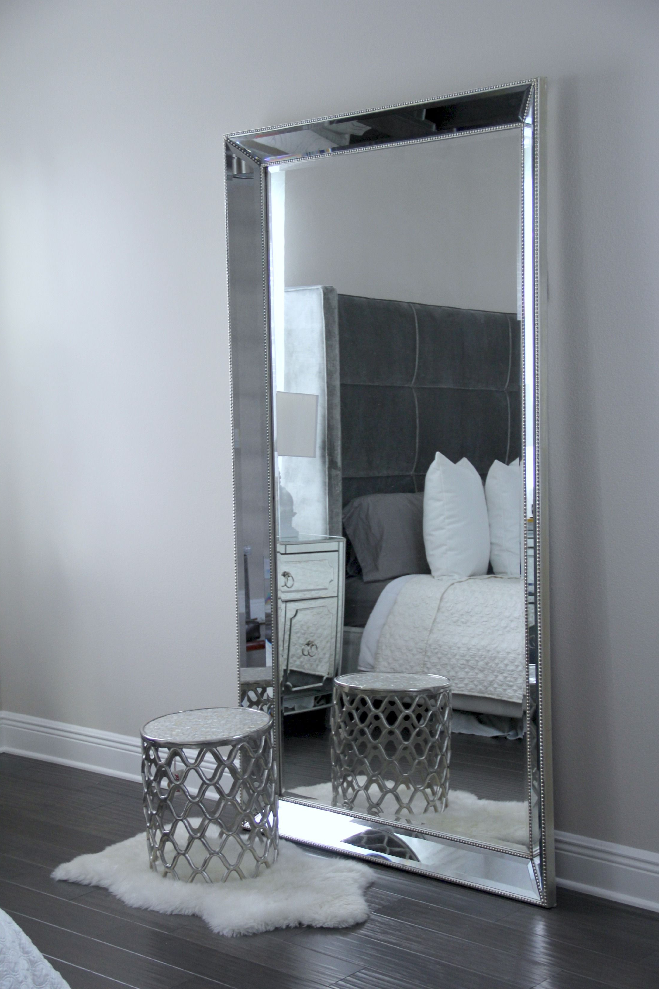 Decorative Bedroom Wall Mirrors In Recent Antique Leaner Mirror For Your Room Decoration Ideas: Silver Leaner (View 4 of 20)