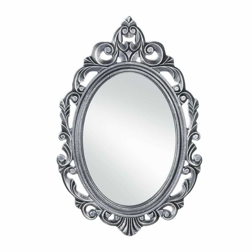 Decorative Black Wall Mirrors Inside Current Details About Decorative Mirrors For Walls, Rustic Contemporary Silver  Royal Crown Wall Mirror (View 7 of 20)