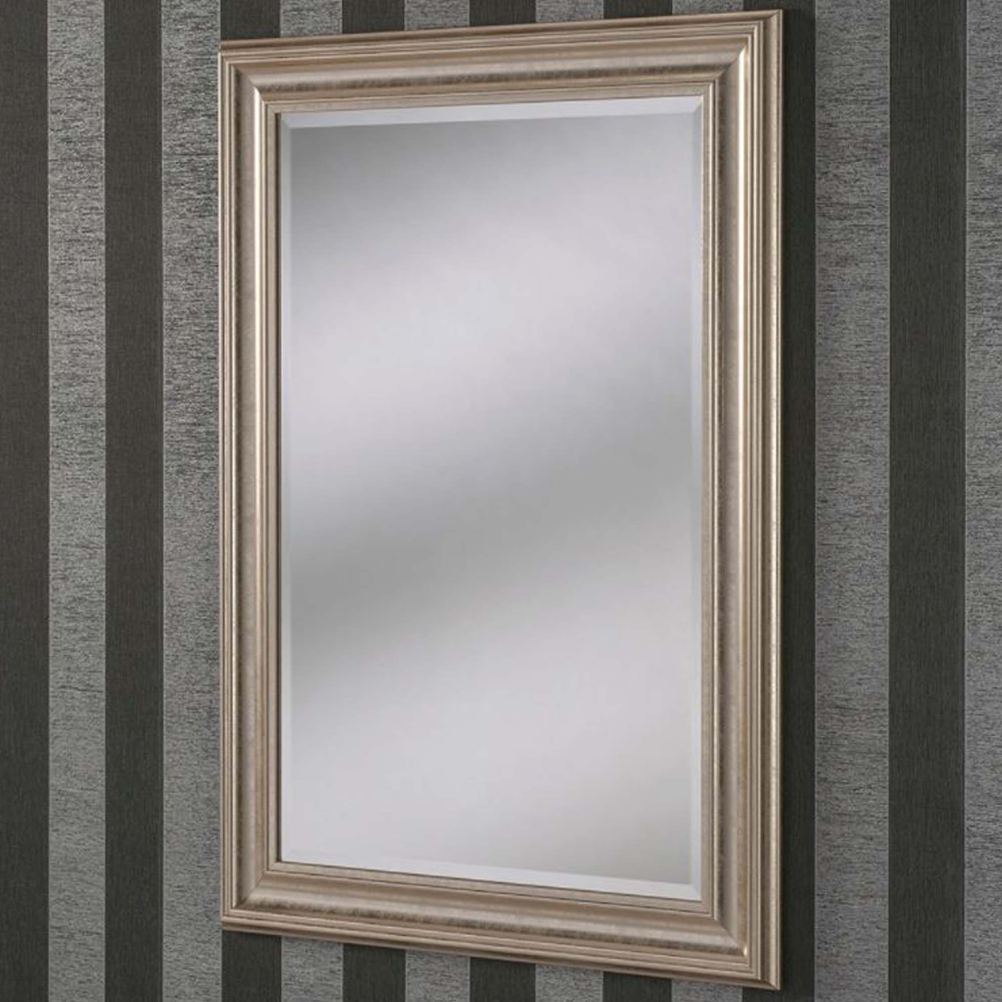 Decorative Champagne Rectangular Wall Mirror Pertaining To Most Recent Champagne Wall Mirrors (View 1 of 20)