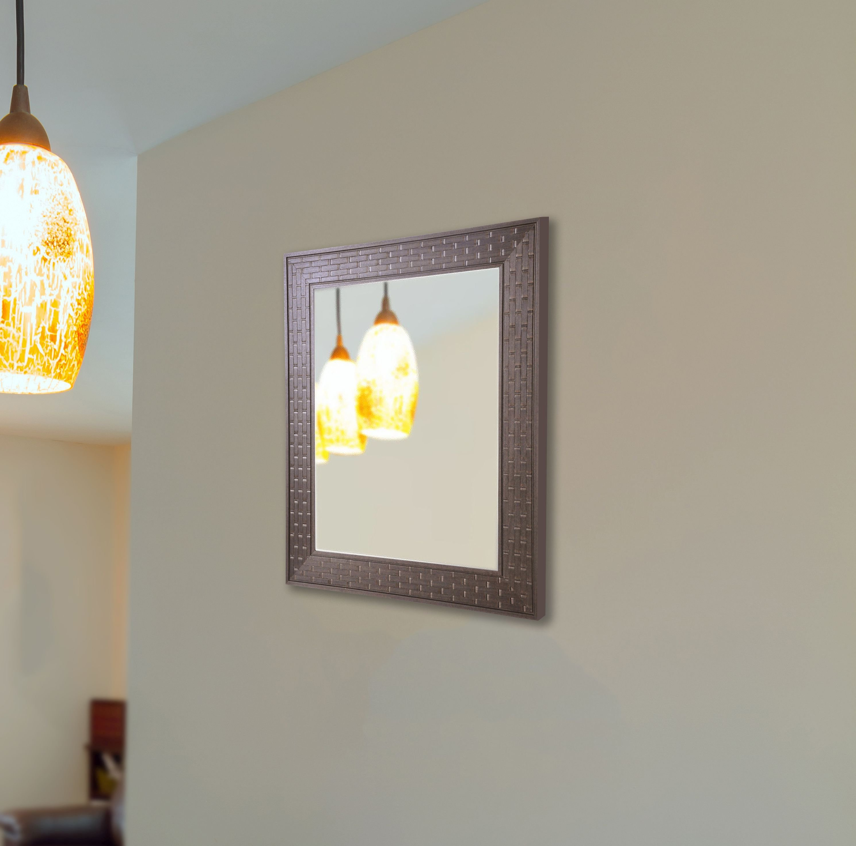 Decorative Contemporary Wall Mirrors Pertaining To Well Known Godfrey Brick Brown Modern & Contemporary Wall Mirror (View 15 of 20)