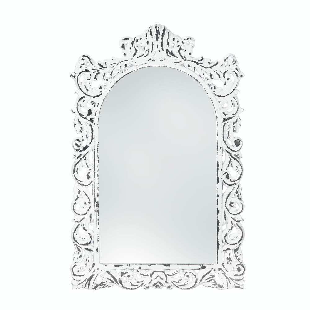 Decorative Etched Wall Mirrors Regarding Current Amazon: Mirrors For Wall, Decorative Rustic Unique Retro Etched (View 3 of 20)