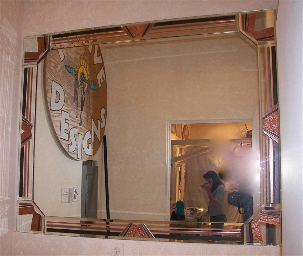 Decorative Etched Wall Mirrors Throughout Favorite Decorative Etched & Carved Mirrors & Mirror Frames – Sans Soucie Art (View 4 of 20)