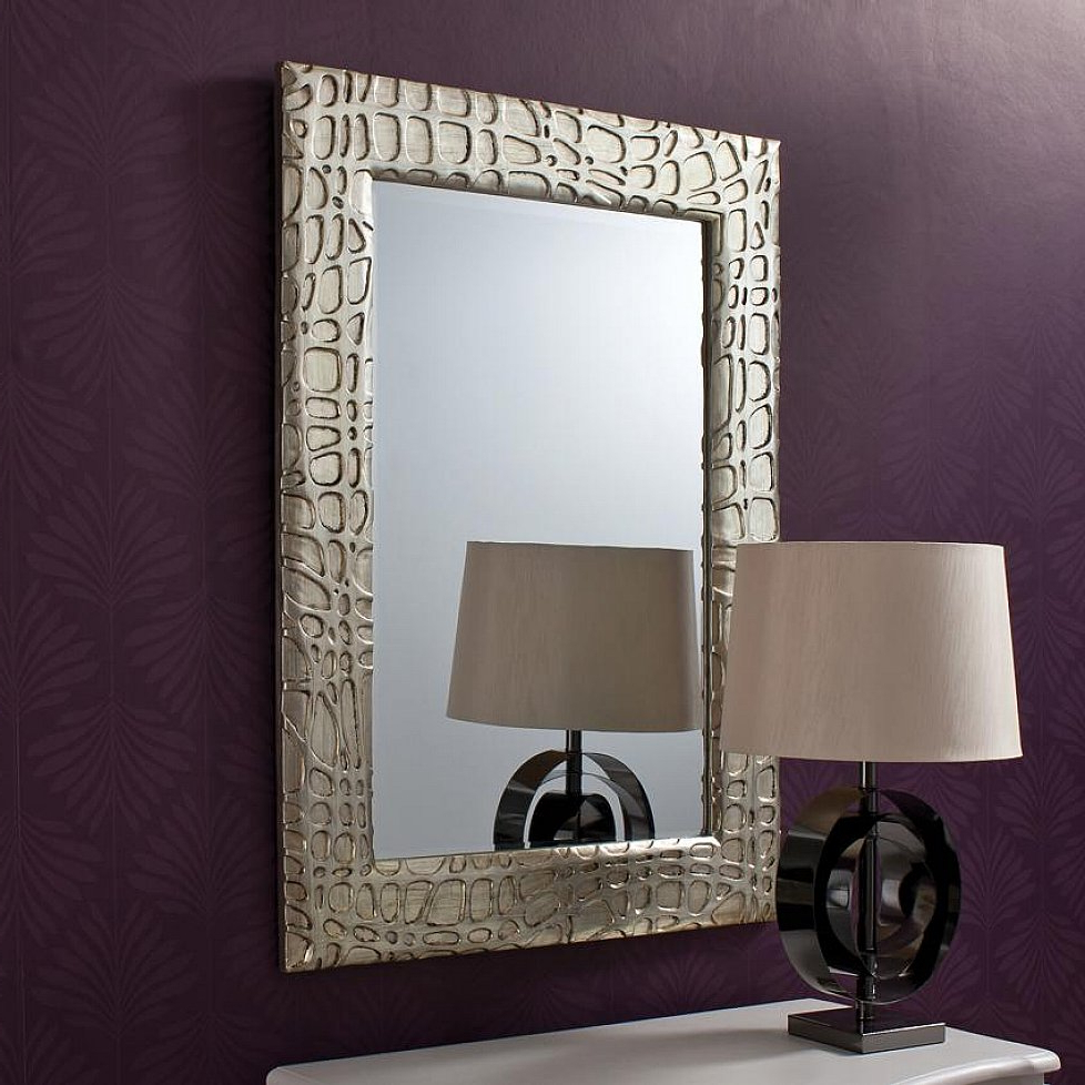 Decorative Etched Wall Mirrors Throughout Most Popular Wall Mirror Designs For Bedrooms Art Of Mirrors Decorating Idea (View 5 of 20)