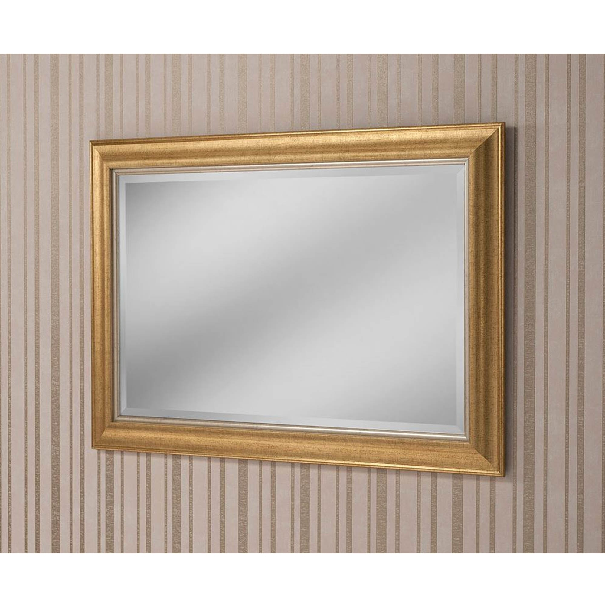 Decorative Gold Rectangular Wall Mirror Throughout Widely Used Rectangular Wall Mirrors (View 13 of 20)