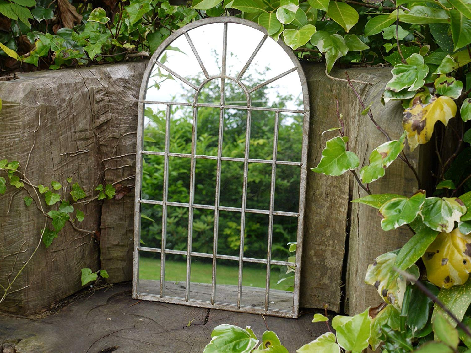 Decorative Gothic Arched Door Metal Framed Garden Wall Mirror Arch 60 Centimetre Pertaining To Current Garden Wall Mirrors (View 12 of 20)