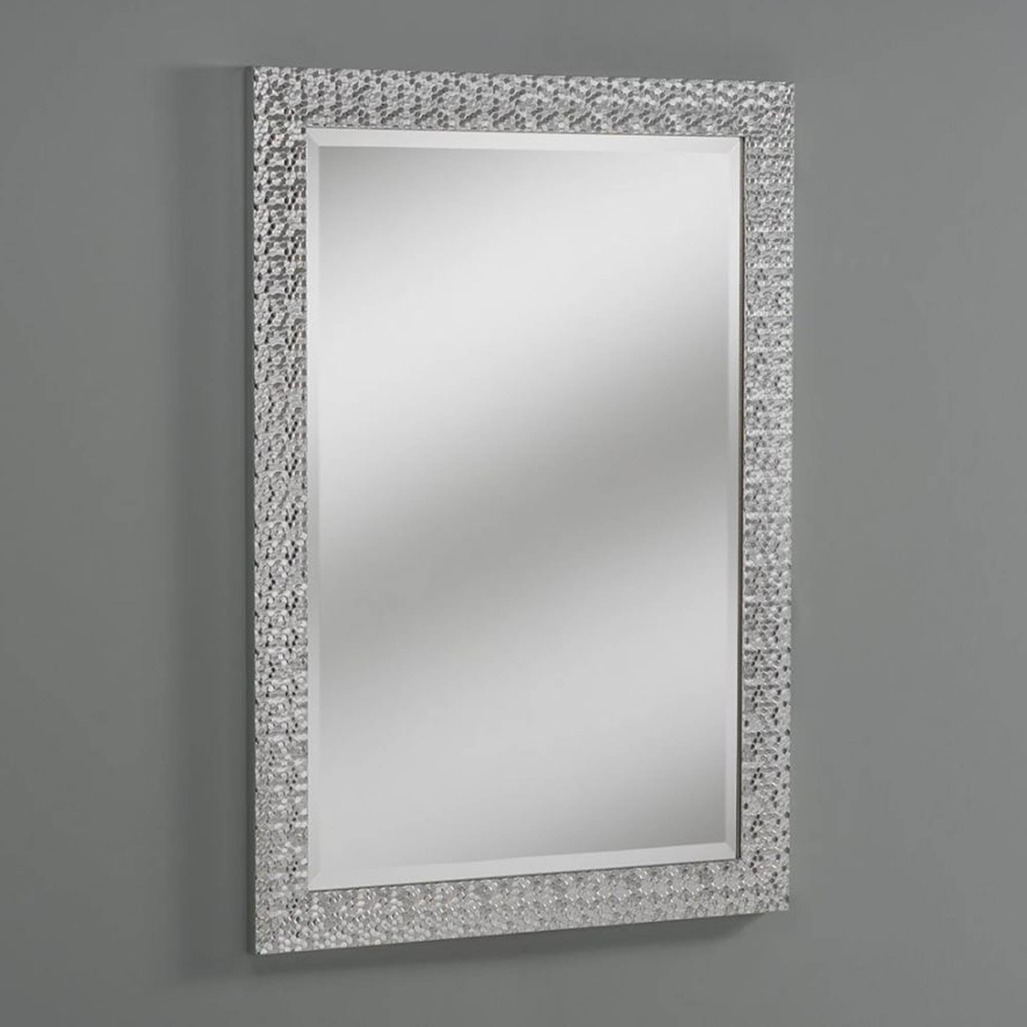 Decorative Hex Silver Wall Mirror Pertaining To Most Recent Silver Wall Mirrors (View 4 of 20)