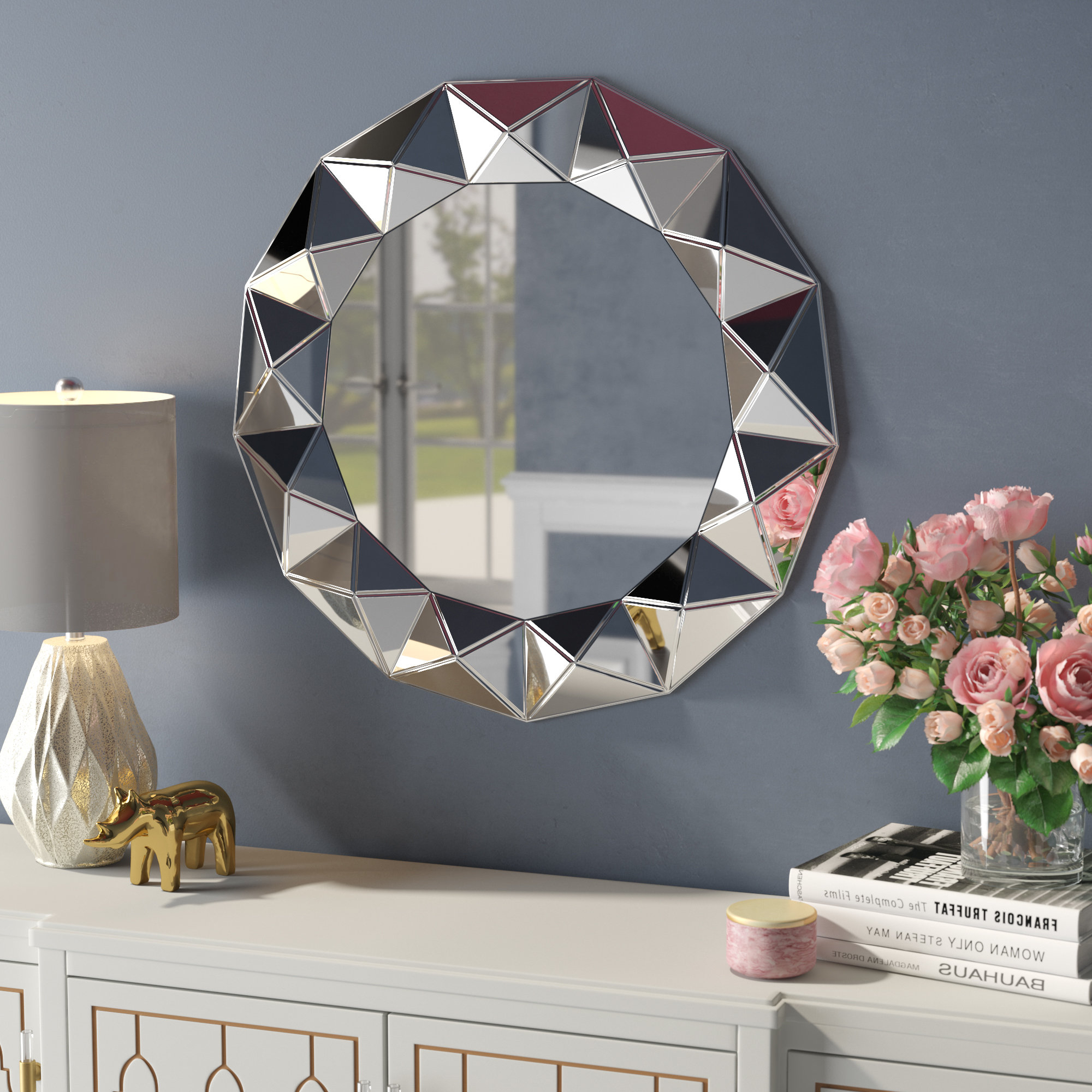 Decorative Round Wall Mirrors For Best And Newest Traditional Round Decorative Wall Mirror (View 14 of 20)