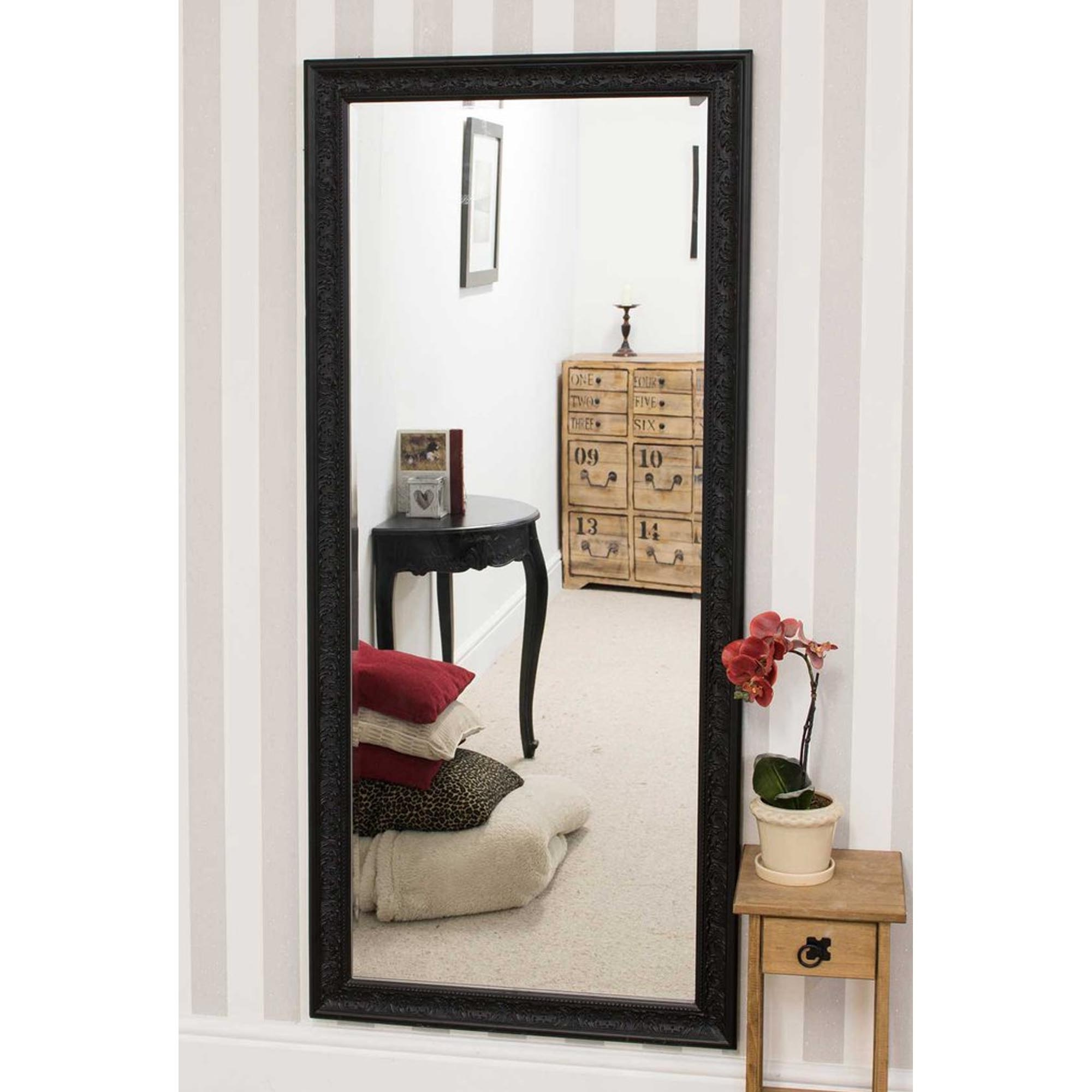 Decorative Thin Black Antique French Style Wall Mirror Throughout Most Recent Thin Wall Mirrors (View 5 of 20)