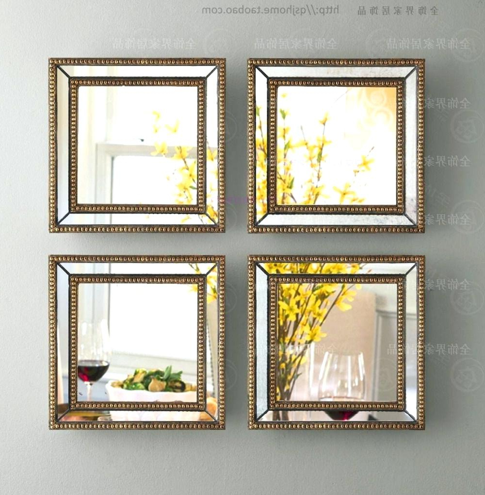 Decorative Wall Mirror Sets Small Mirrors Large Decoration For Best And Newest Square Wall Mirror Sets (Gallery 8 of 20)