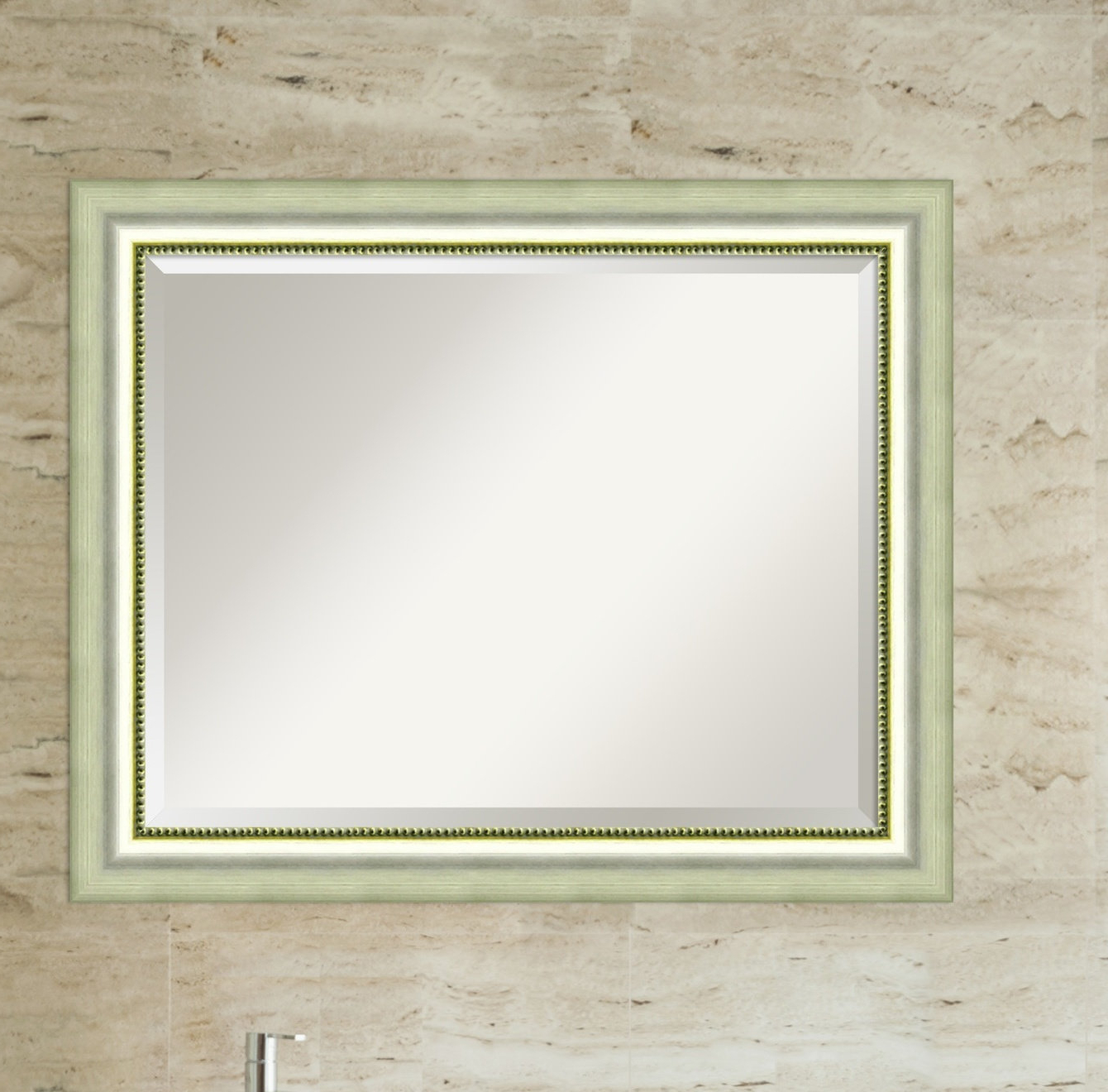 Dedrick Decorative Framed Modern And Contemporary Wall Mirrors For Most Recently Released Josefien Rectangle Curved Silver Bathroom Wall Mirror (View 4 of 20)