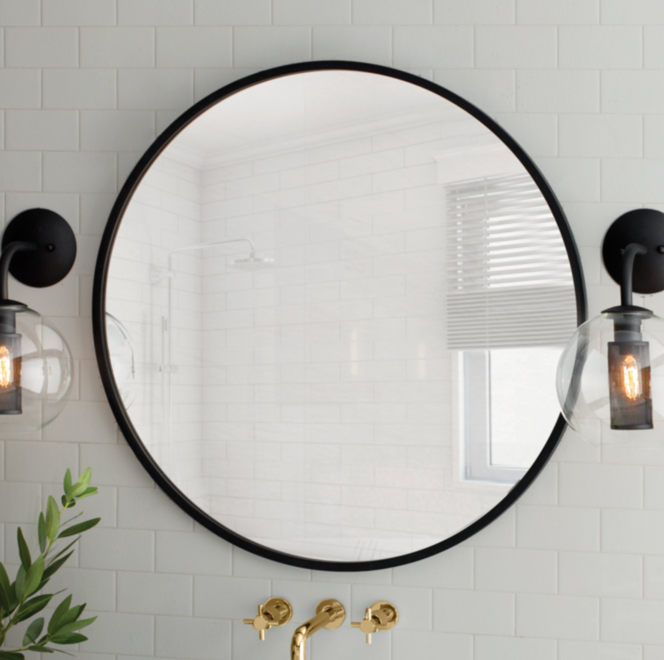 Dekalb Modern & Contemporary Distressed Accent Mirrors Pertaining To Trendy Umbra Hub Modern And Contemporary Accent Mirror (View 5 of 20)